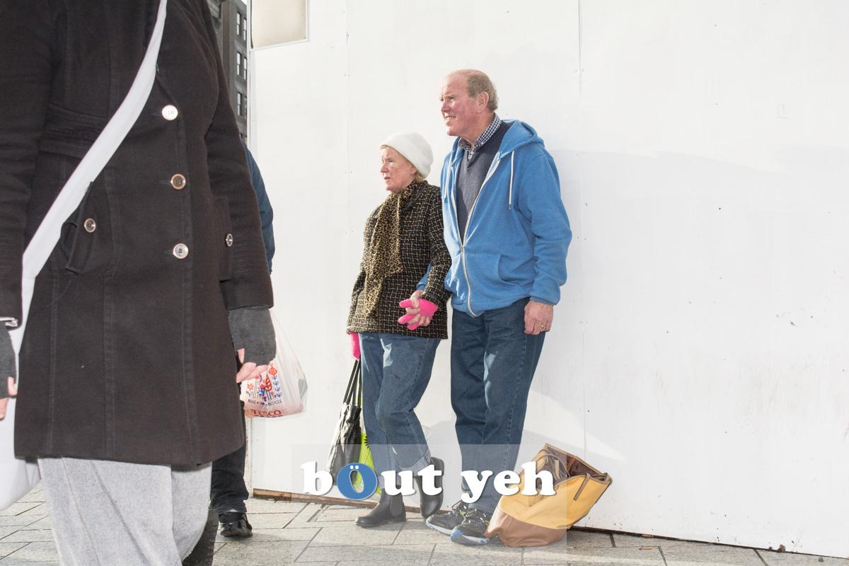 Elderly couple, Belfast. Photo 2690.
