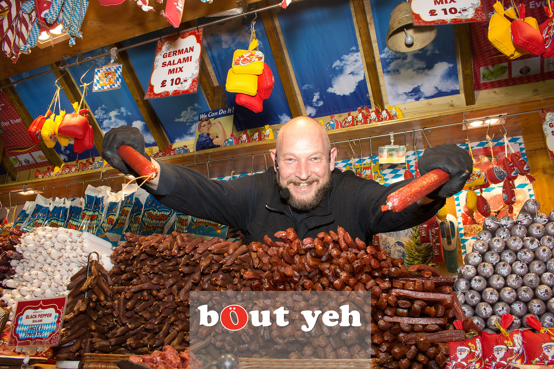 German trader at Belfast Christmas Market in Belfast - bout yeh photographers Belfast photo 3283.