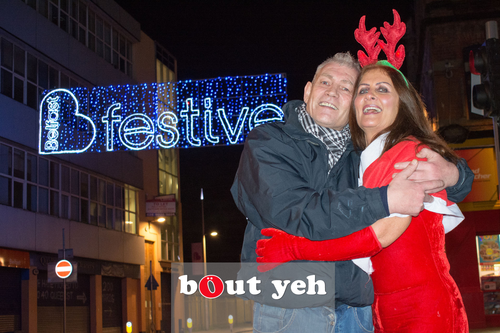 Woman wearing Christmas outfit in Belfast - bout yeh photographers Belfast photo 3383.