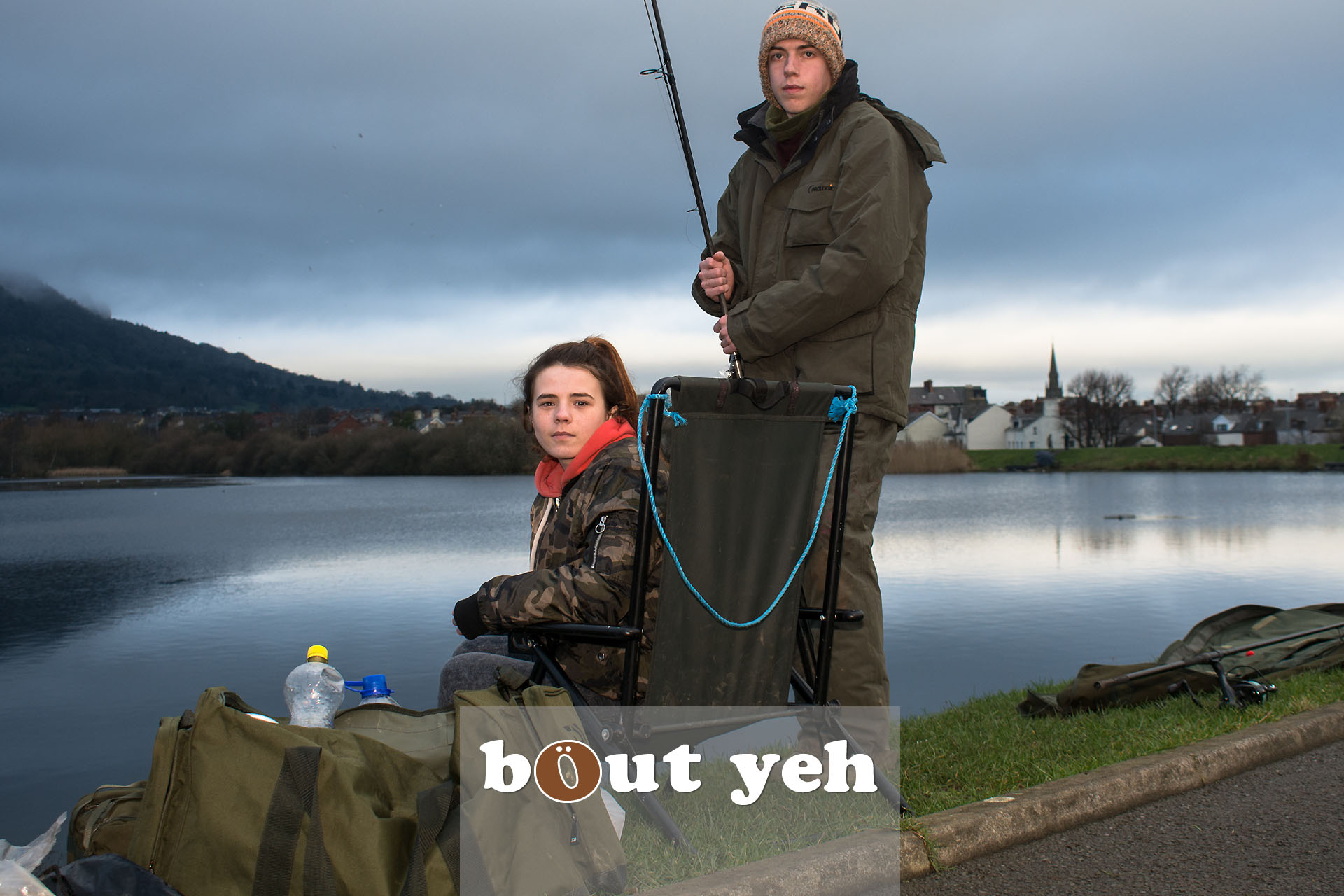 Young couple fishing at Waterworks, Belfast, Northern Ireland - bout yeh photographers Belfast photo 3950.