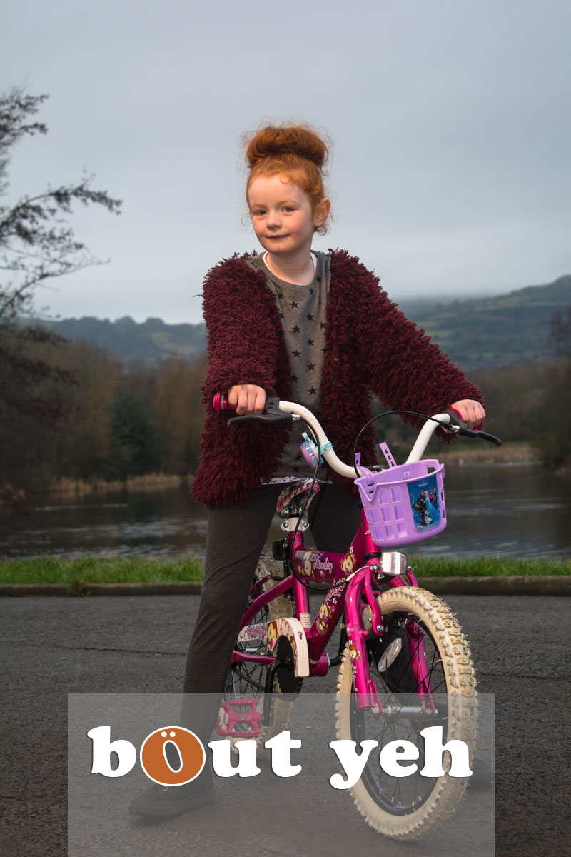 Red haired girl and bike, Waterworks, Belfast, Northern Ireland - bout yeh photographers Belfast photo 3992.