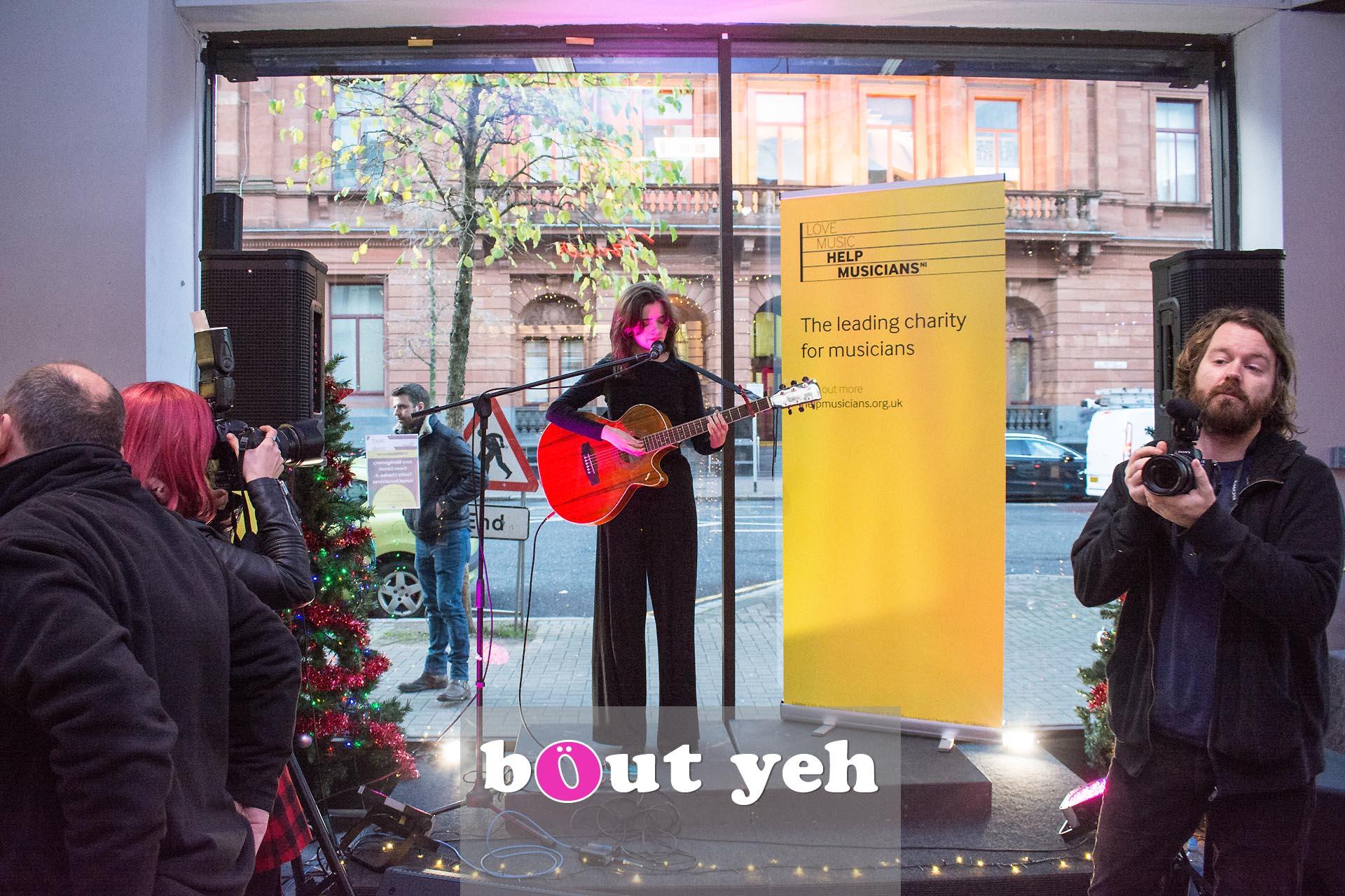 Rosie Carney singer concert at Dawsons Musical Instruments in Belfast - photo 2833.