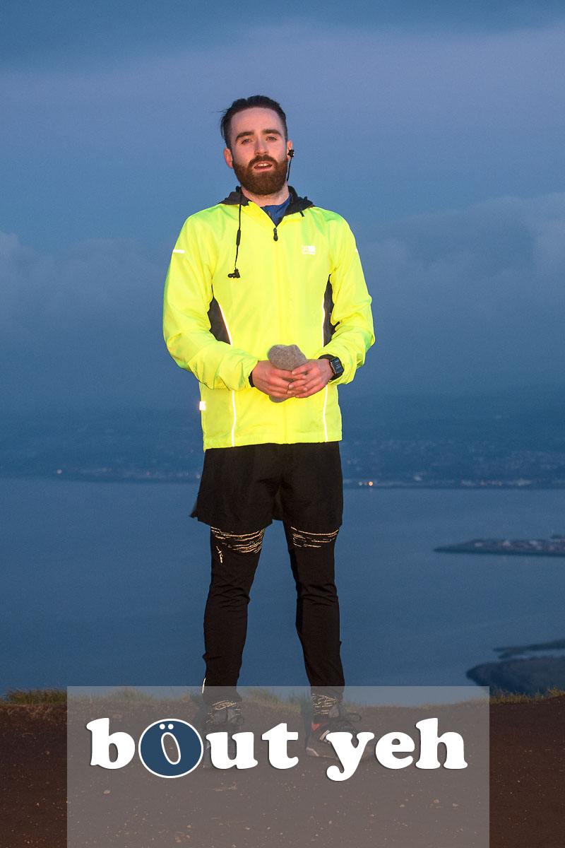 Hill runner at McArts Fort, Cavehill, Belfast, Belfast - photo 4133.
