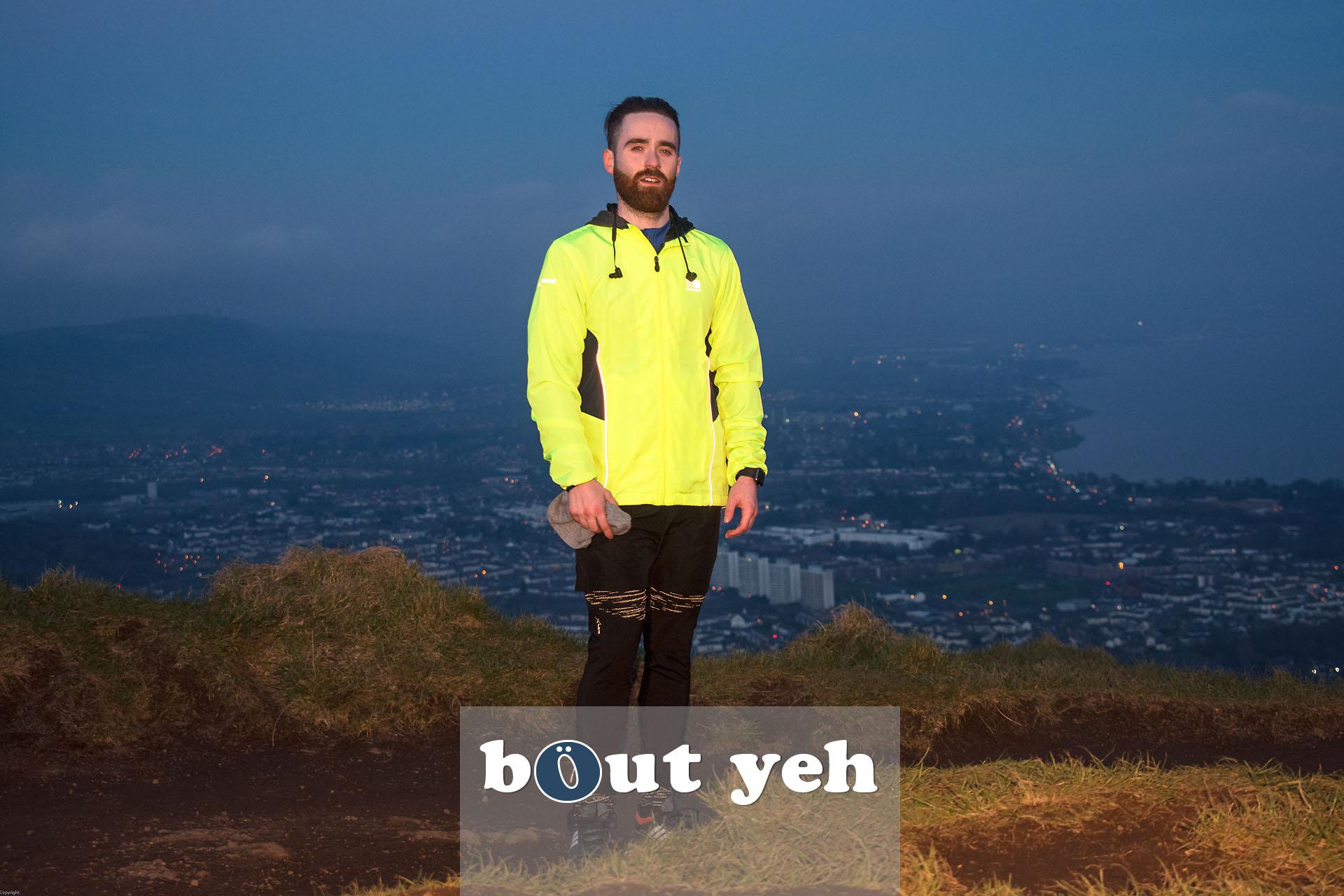 Hill runner at McArts Fort, Cavehill, Belfast, Belfast - photo 4135.