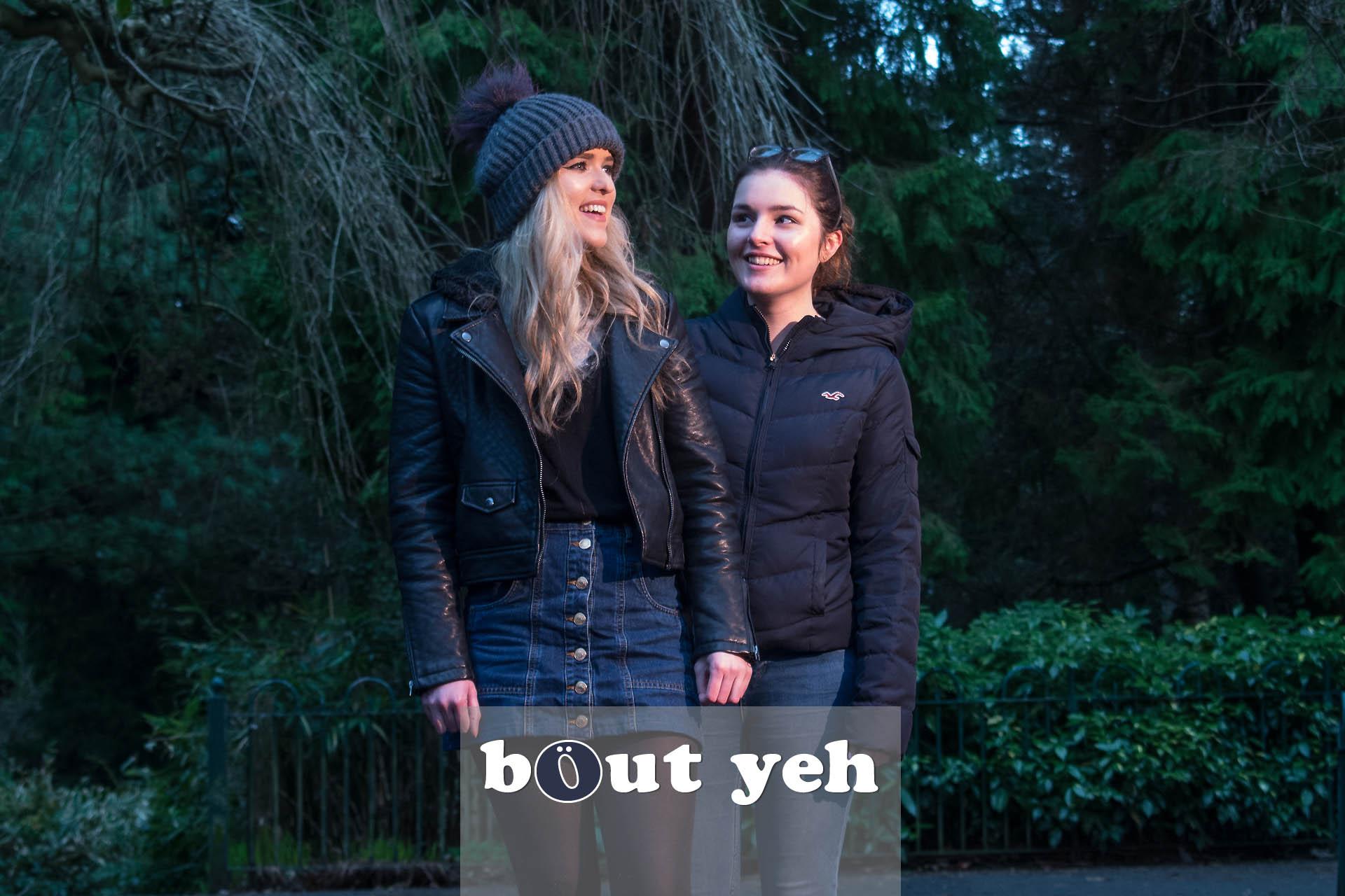 Student friends in Botanic Gardens, Belfast - photo 4345.