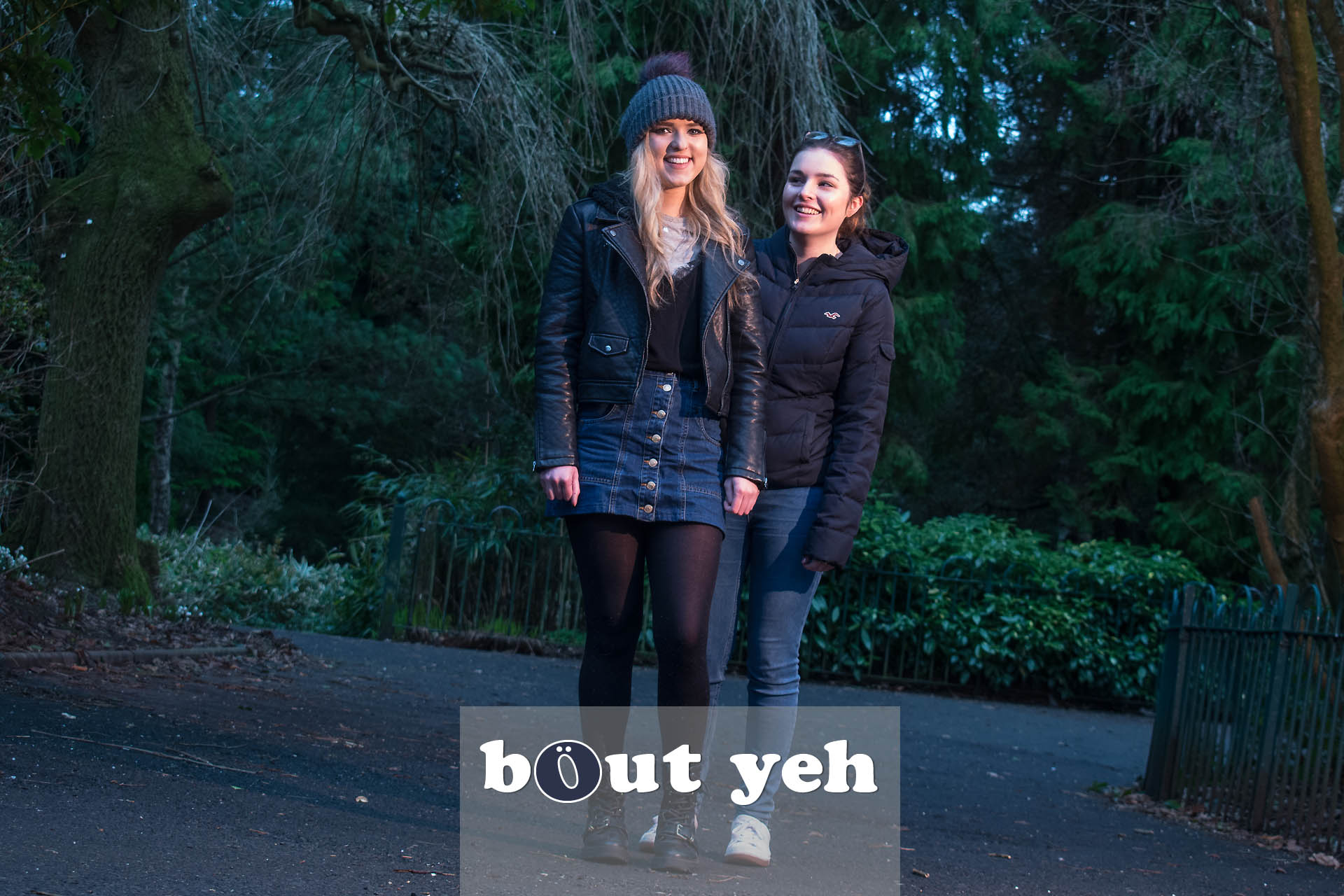 Student friends in Botanic Gardens, Belfast - photo 4346.