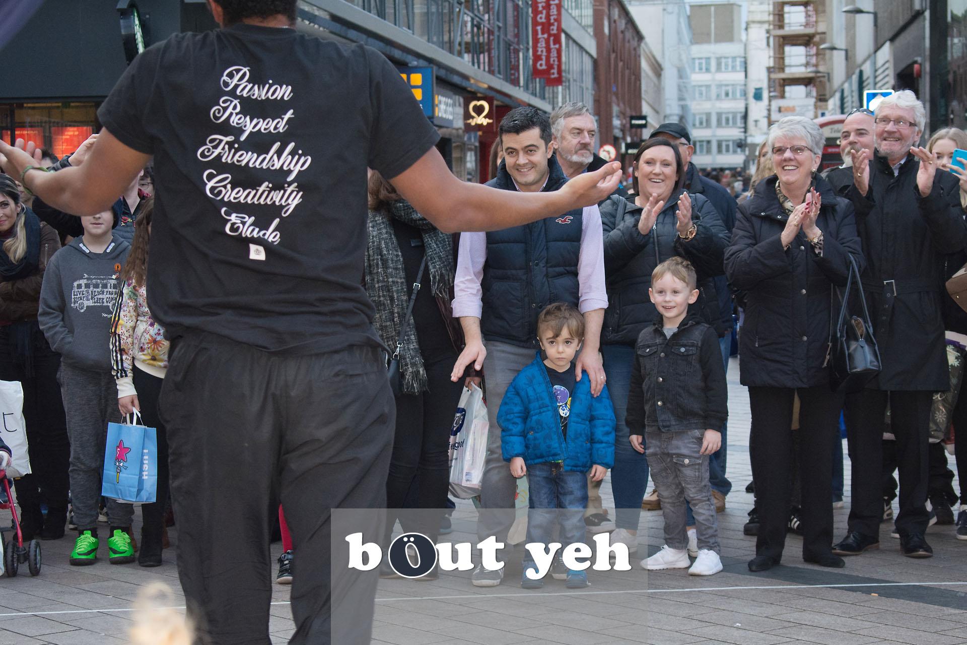 Street performers, Cornmarket, Belfast - photo 2756.