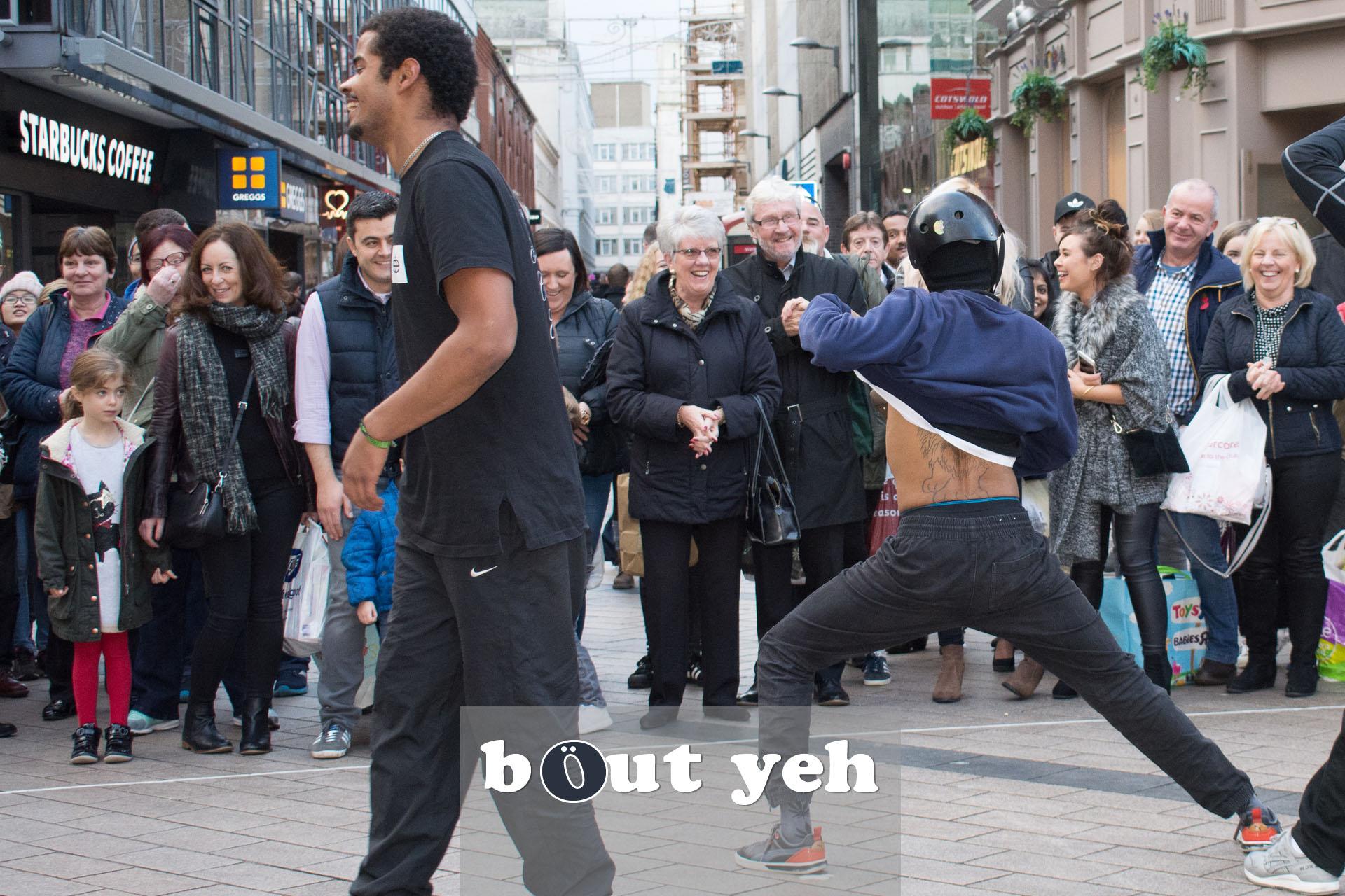 Street performers, Cornmarket, Belfast - photo 2757.