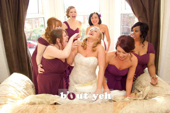 Photographers Belfast - be featured in Bout Yeh, Emma and Ian wedding photo.