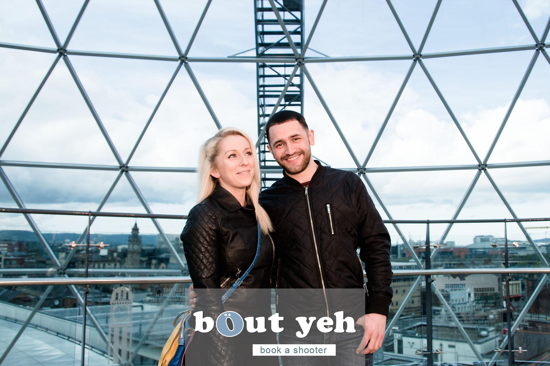Claire and Brendan at Victoria Square, Belfast, Northern Ireland - photo 5526.