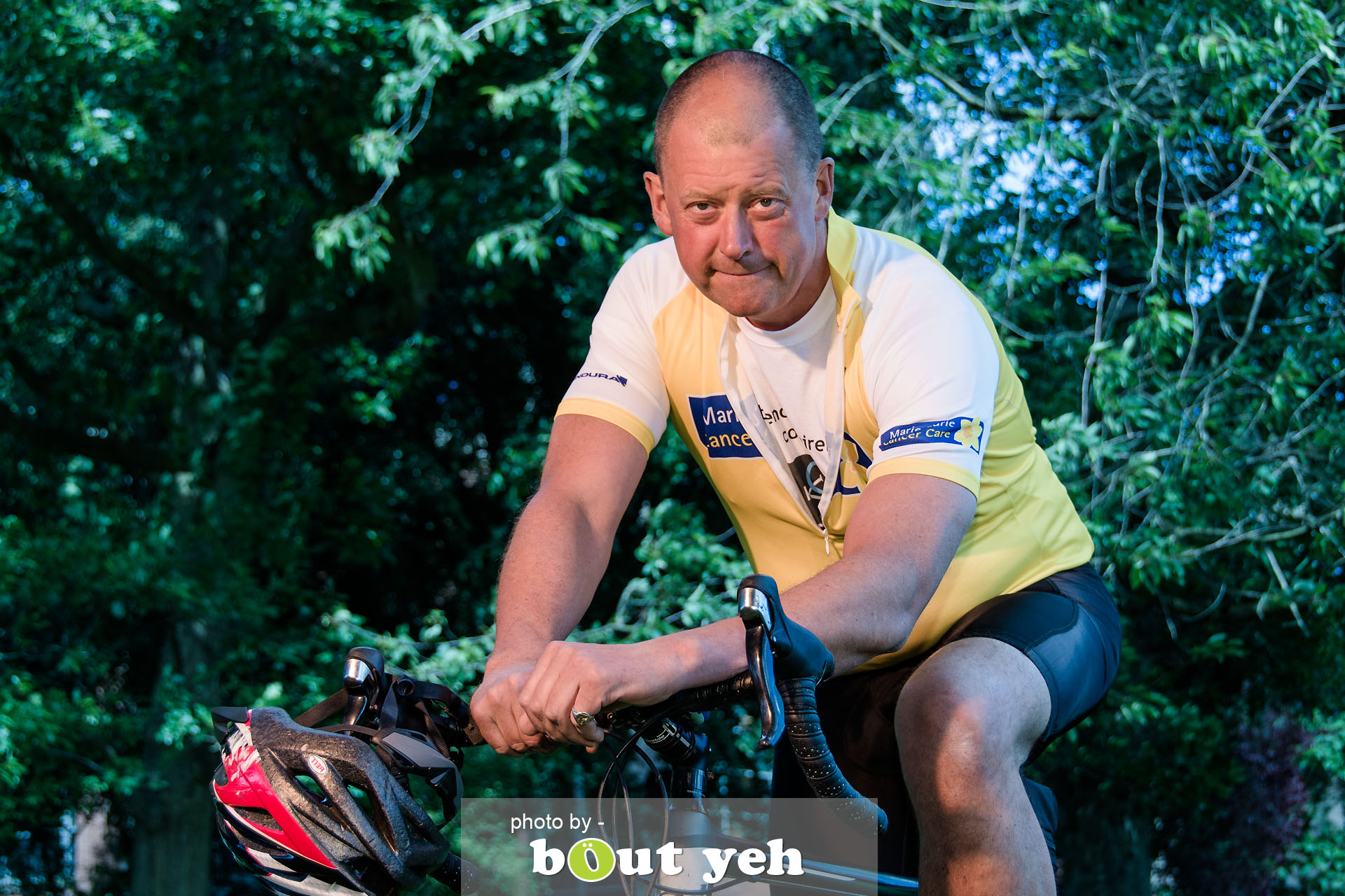 Hugo, of Bed and Bike Cycling Tours, at Botanic Gardens, Belfast, Northern Ireland - photo 7125.