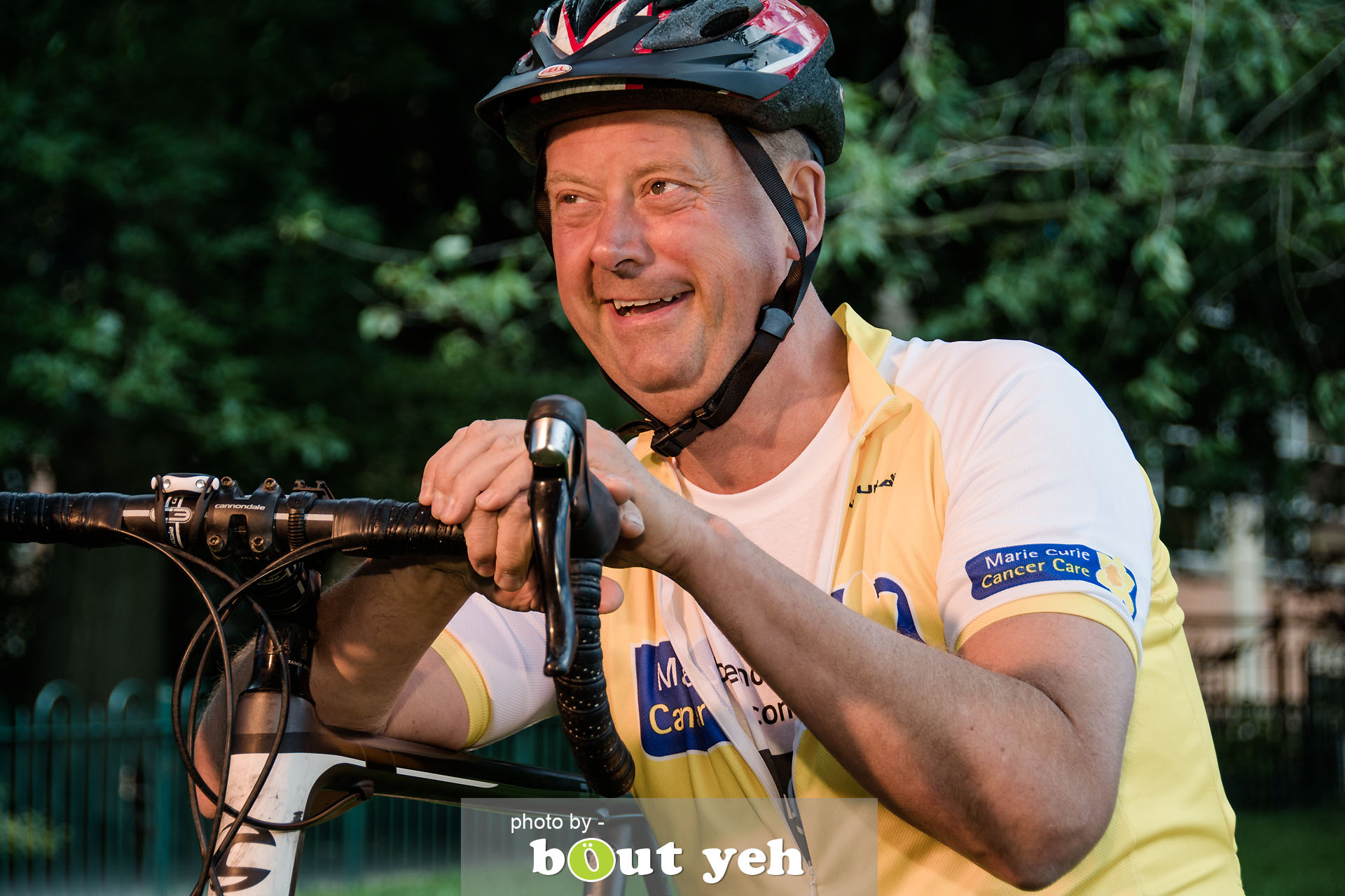 Hugo, of Bed and Bike Cycling Tours, at Botanic Gardens, Belfast, Northern Ireland - photo 7131.