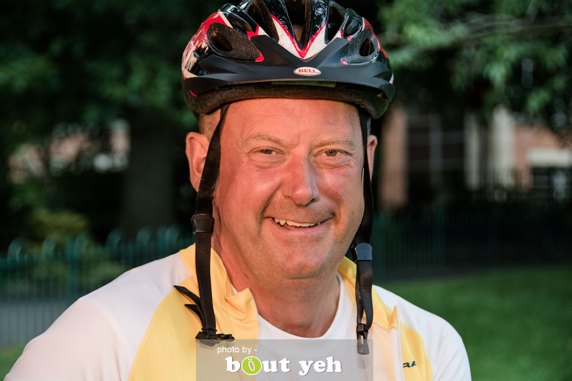 Hugo, of Bed and Bike Cycling Tours, at Botanic Gardens, Belfast, Northern Ireland - photo 7139.