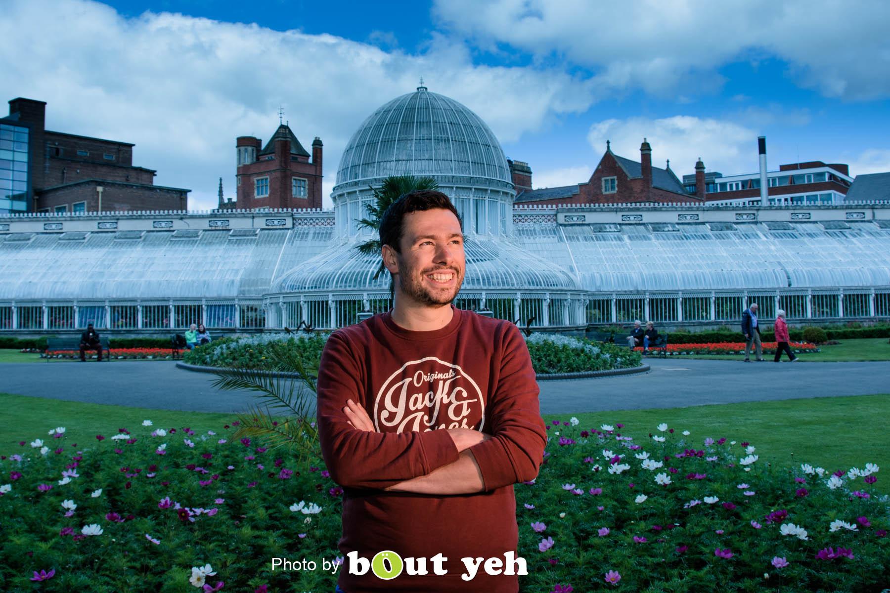 Kieran, at Botanic Gardens, Belfast, Northern Ireland - photo 7100.