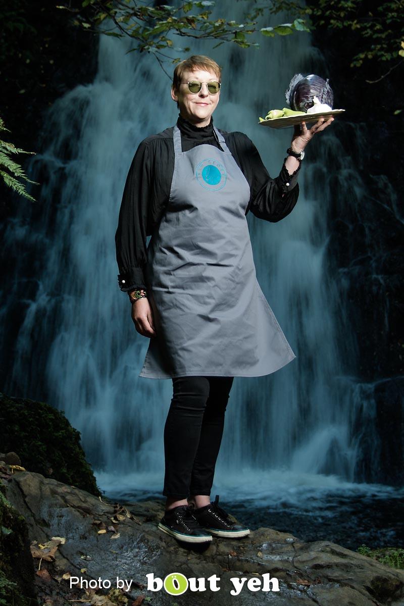 Kim, at Glenoe Waterfall, Northern Ireland - photo 9027.