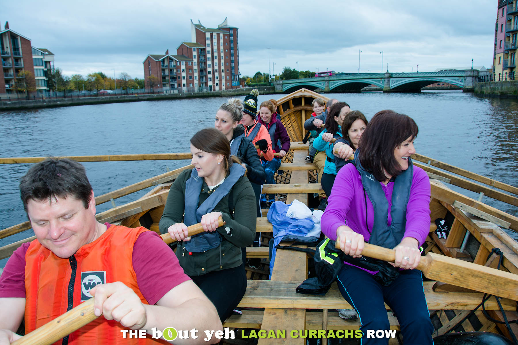 Enjoying a row during the Bout yeh Lagan Currachs row - photo 9209.