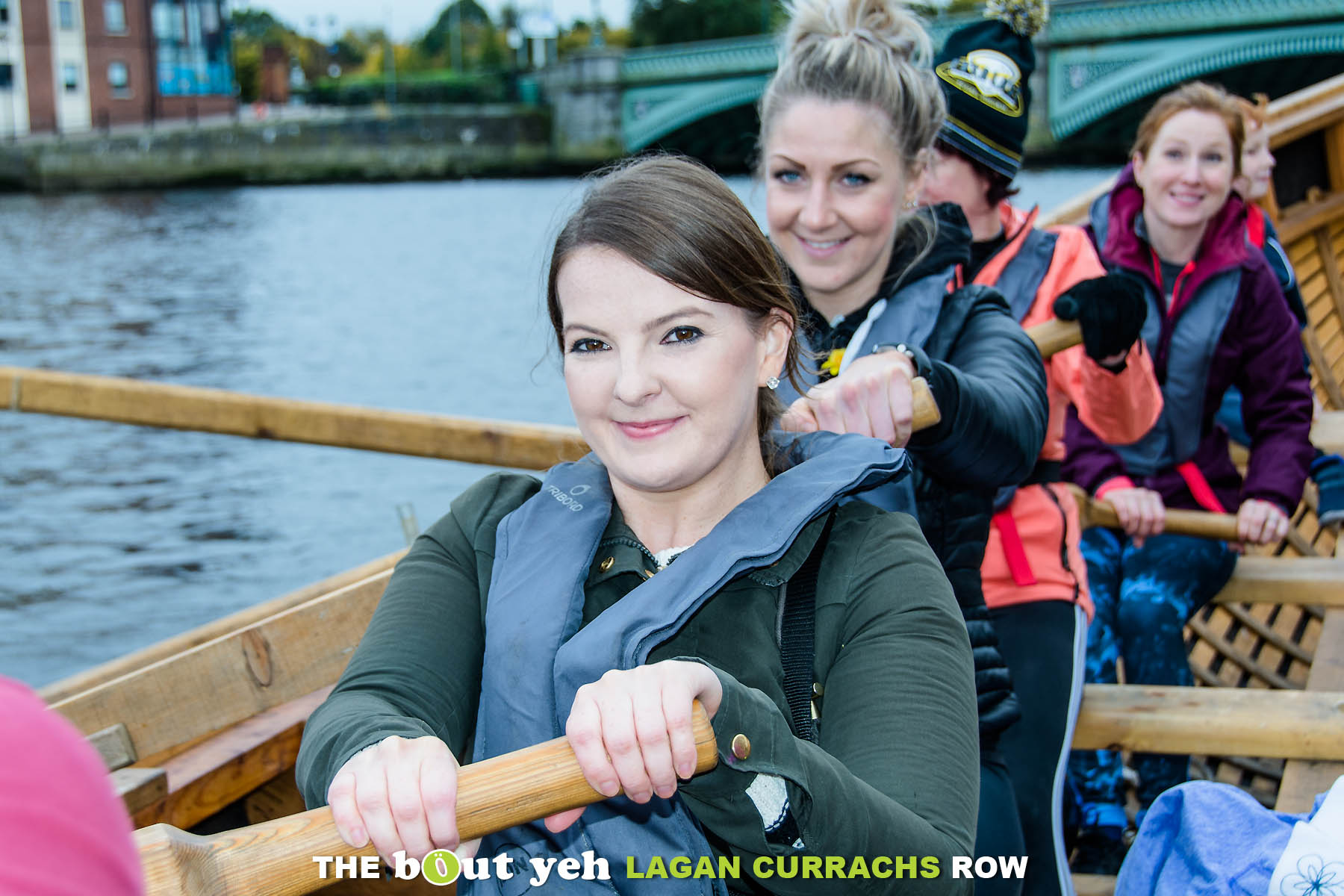 Mairead enjoying the Bout Yeh Lagan Currachs row - photo 9215.