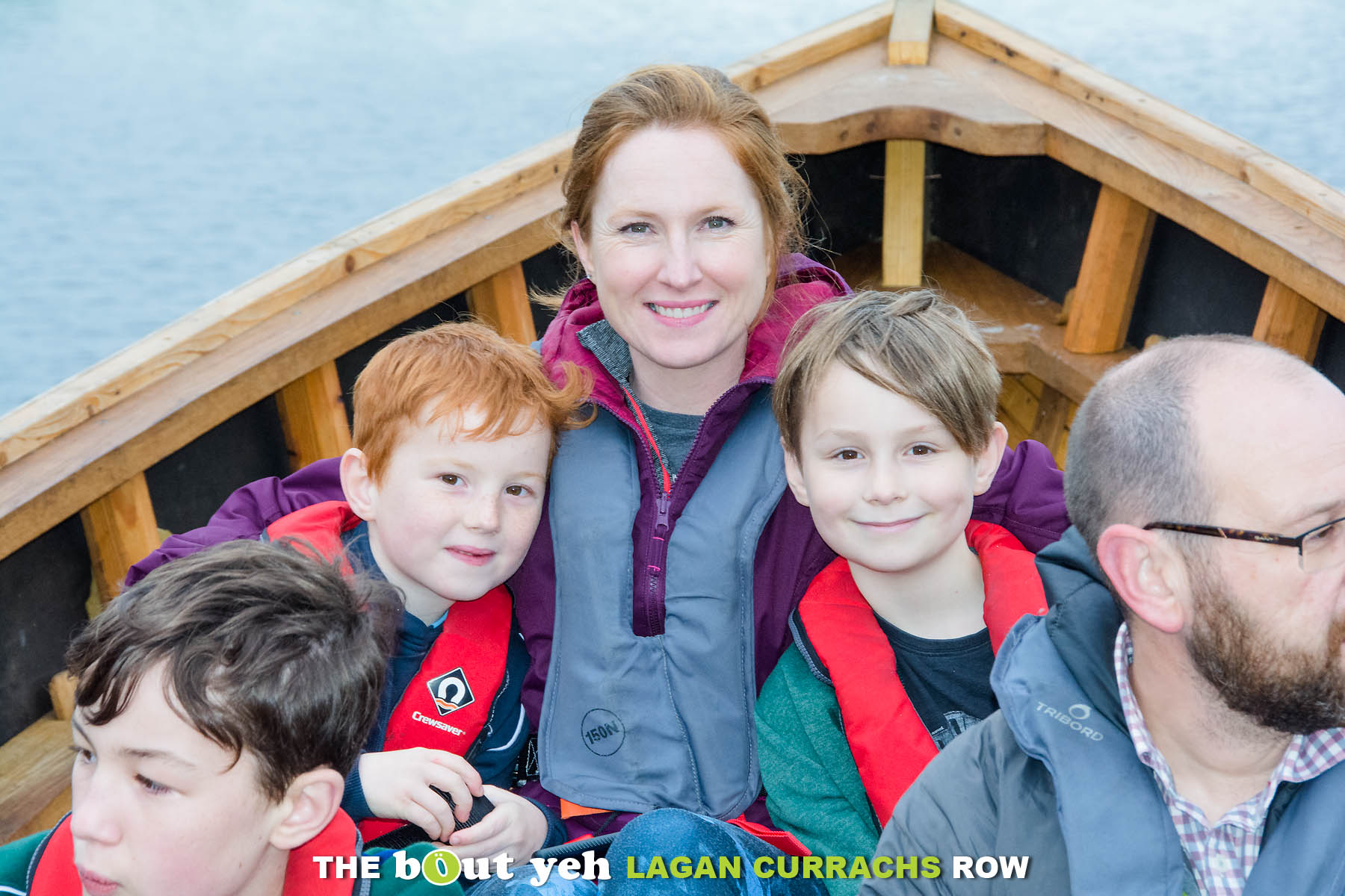 Kelly and friends enjoying the Bout Yeh Lagan Currachs row - photo 9223.