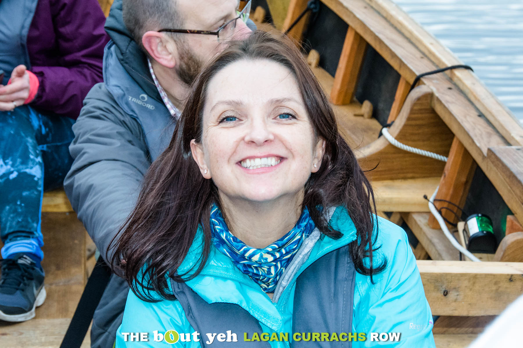 Sharon smiles for the camera, while taking part in the Bout Yeh Lagan Currachs row - photo 9228.