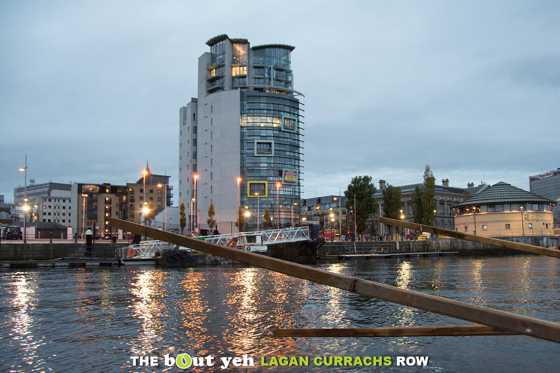 The Boat building, Belfast pictured from the River Lagan during the Bout Yeh Lagan Currachs row - photo 9265.
