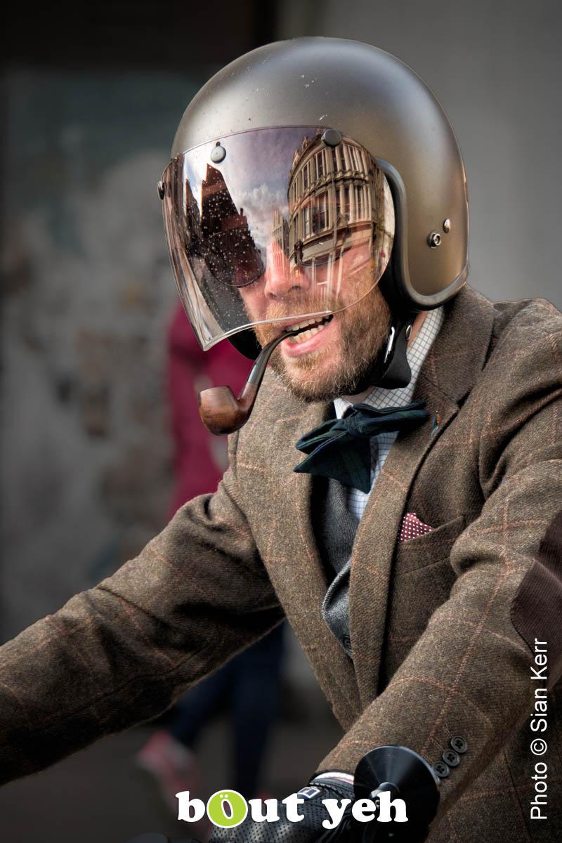Featured photographer, Sian Kerr, photograph, Culture Night Belfast parade biker.