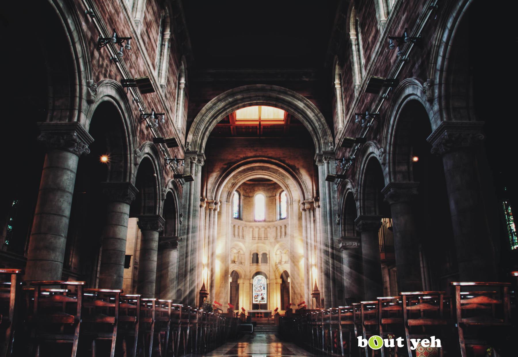 Saint Annes Belfast Cathedral interior, Northern Ireland.