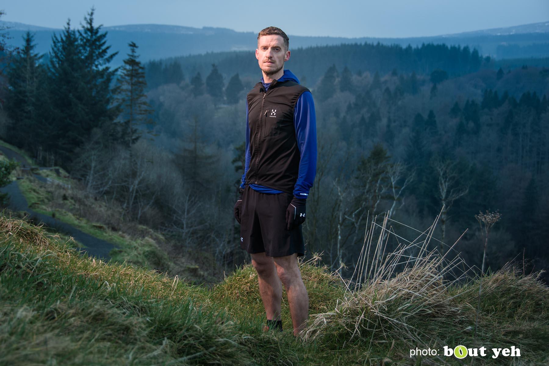 Tim, of Ballymena Runners, at Glenariff Forest, Northern Ireland - photo 0610.