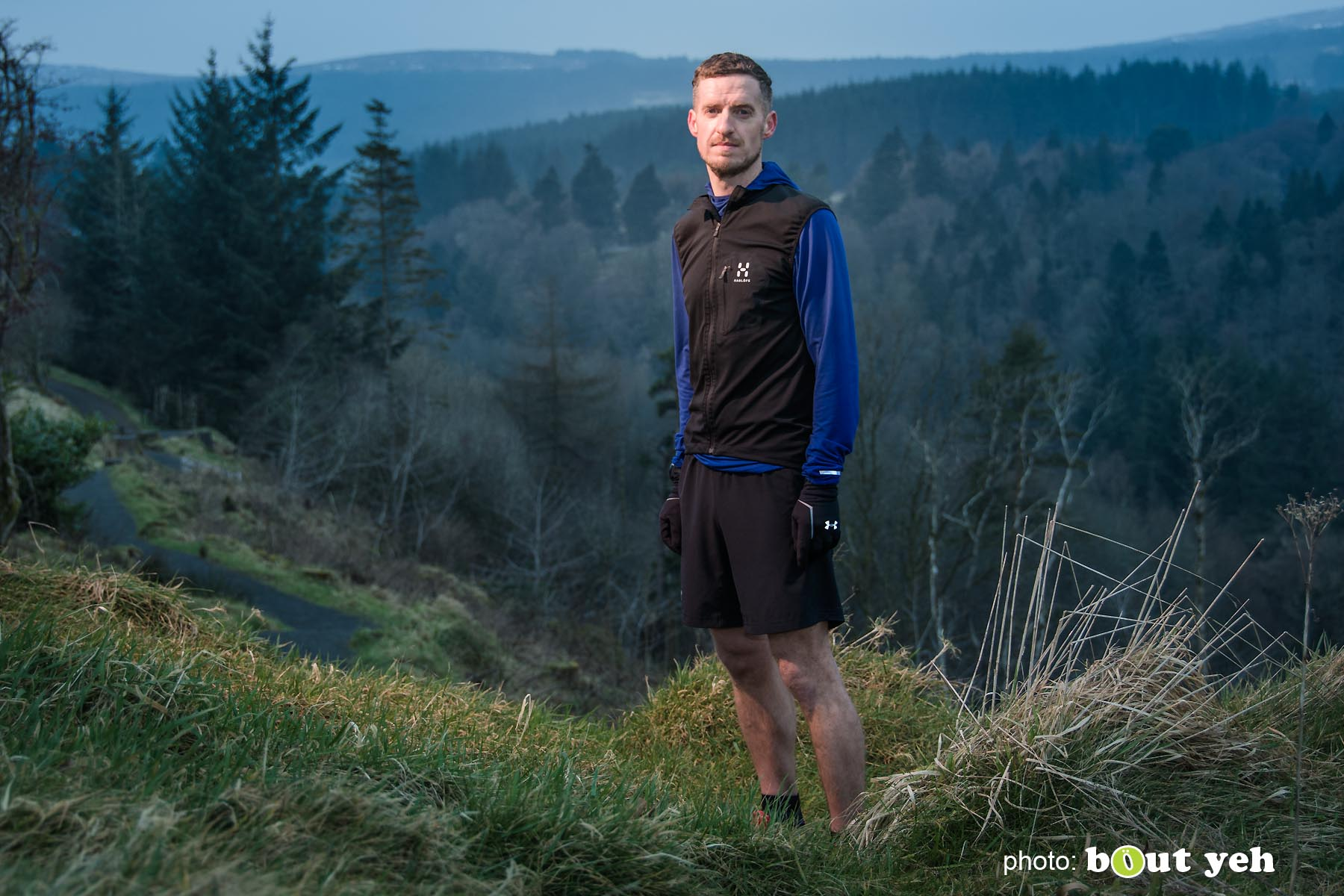 Tim, of Ballymena Runners, at Glenariff Forest, Northern Ireland - photo 0611.