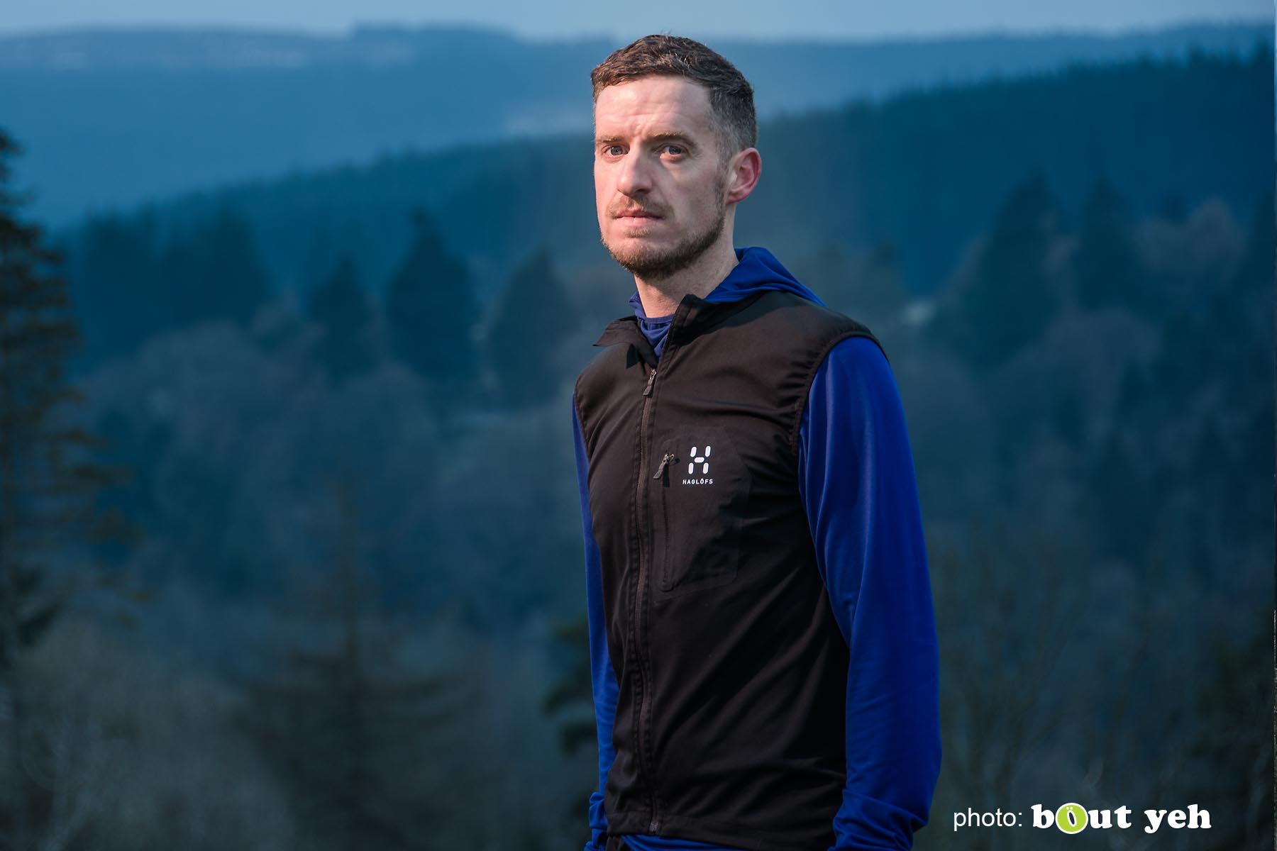 Tim, of Ballymena Runners, at Glenariff Forest, Northern Ireland - photo 0613.