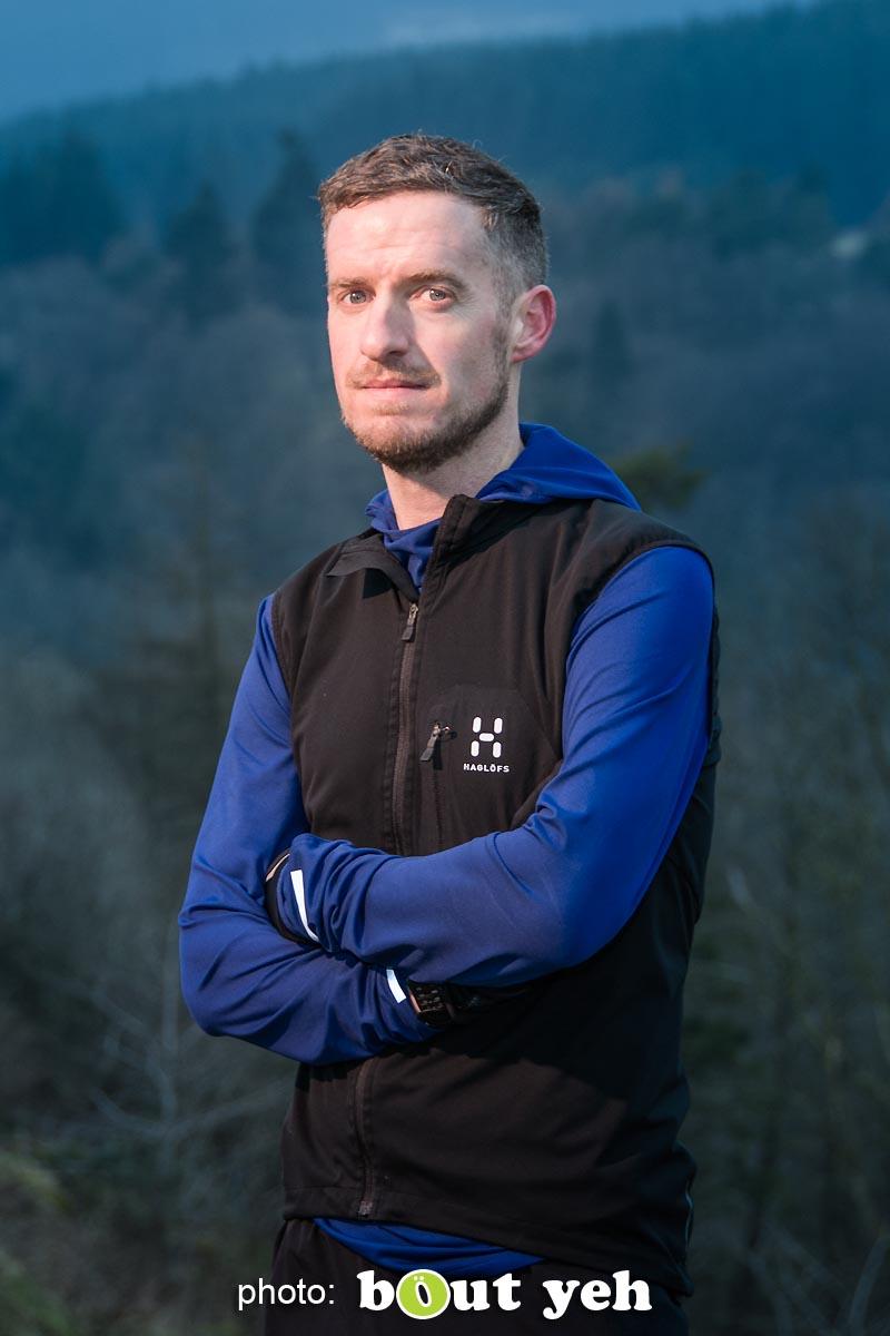 Tim, of Ballymena Runners, at Glenariff Forest, Northern Ireland - photo 0624.