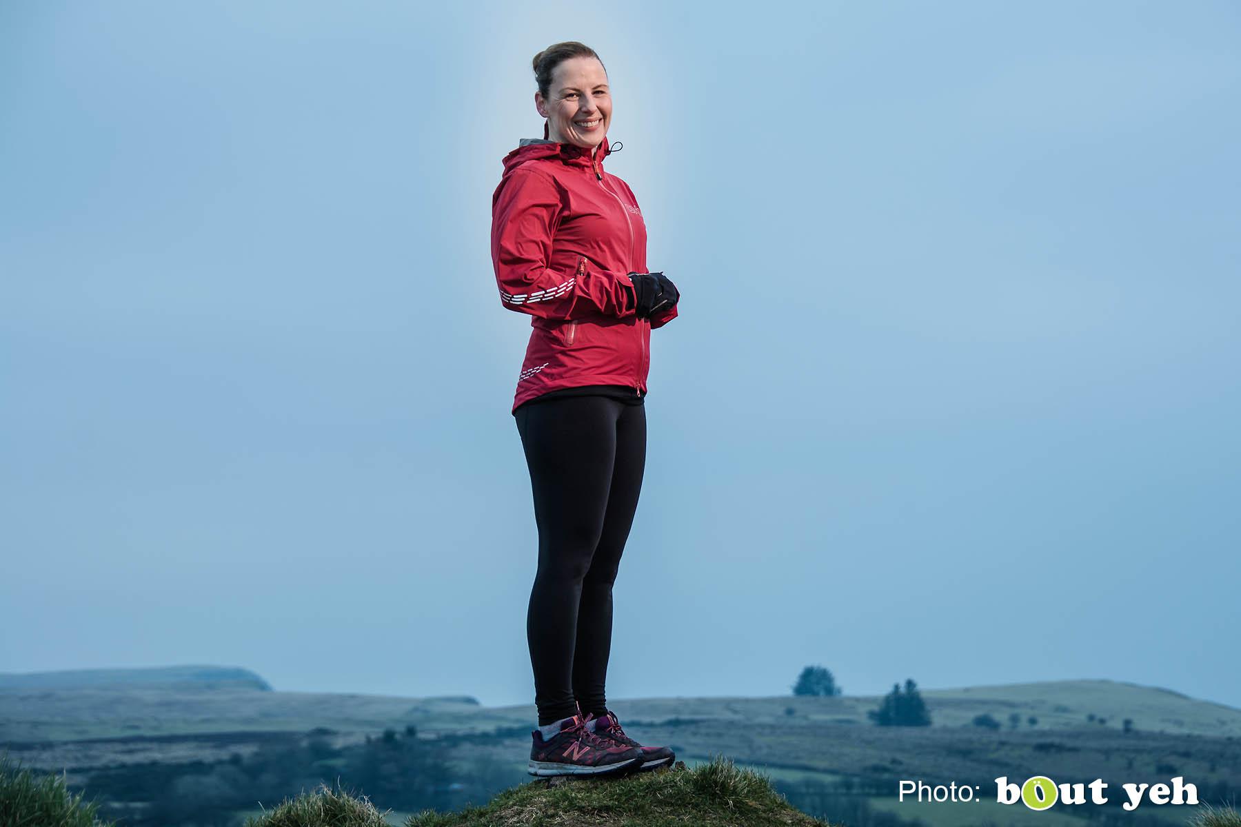 Emma, of Ballymena Runners, at Glenariff Forest, Northern Ireland. Photo 0656.