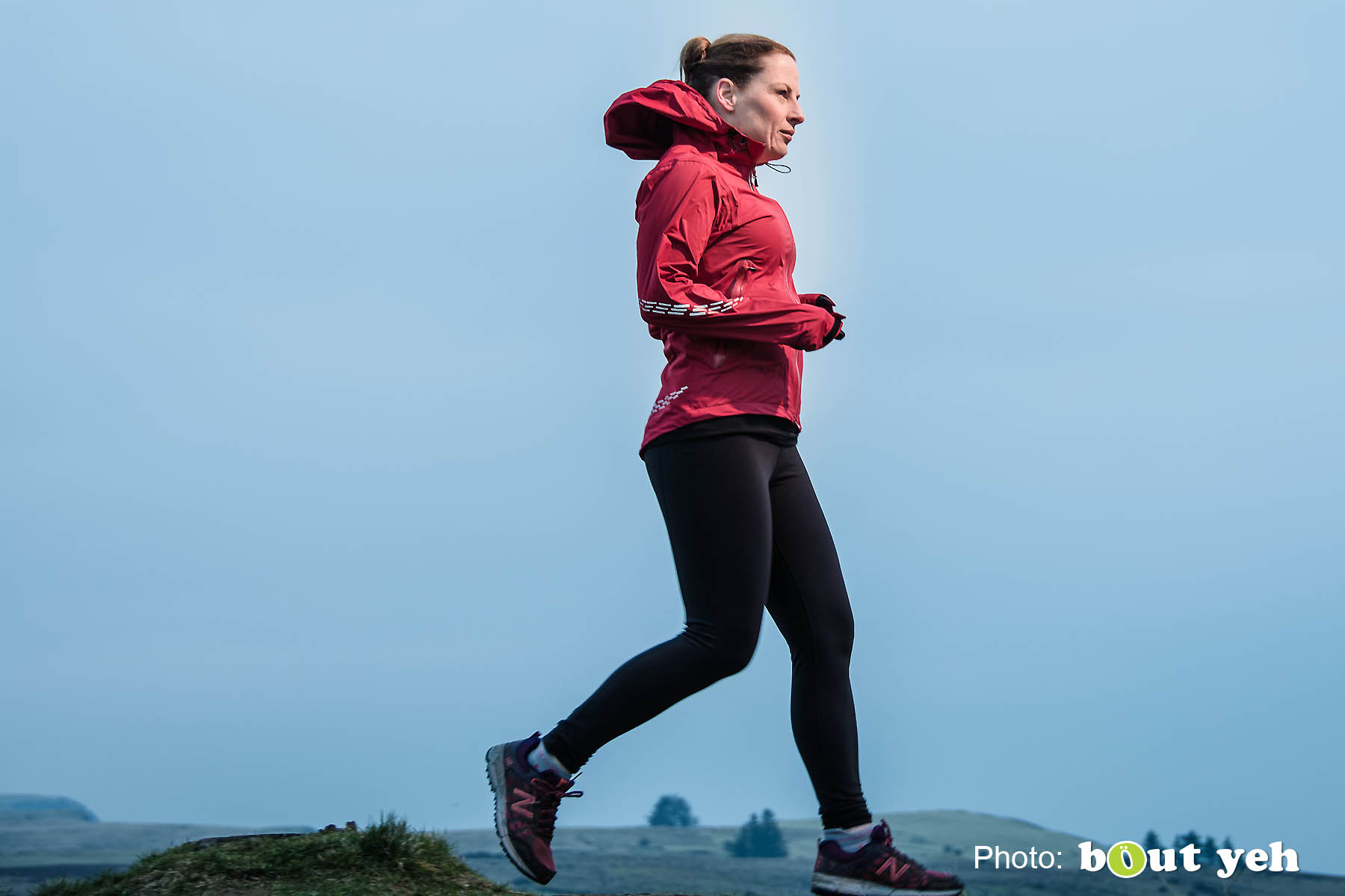 Emma, of Ballymena Runners, at Glenariff Forest, Northern Ireland. Photo 0663.