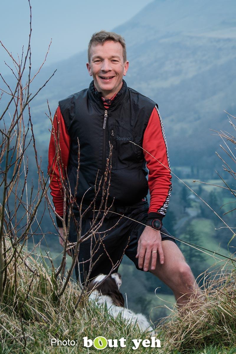 Mark, of Ballymena Runners, at Glenariff Forest, Northern Ireland. Photo 0730.