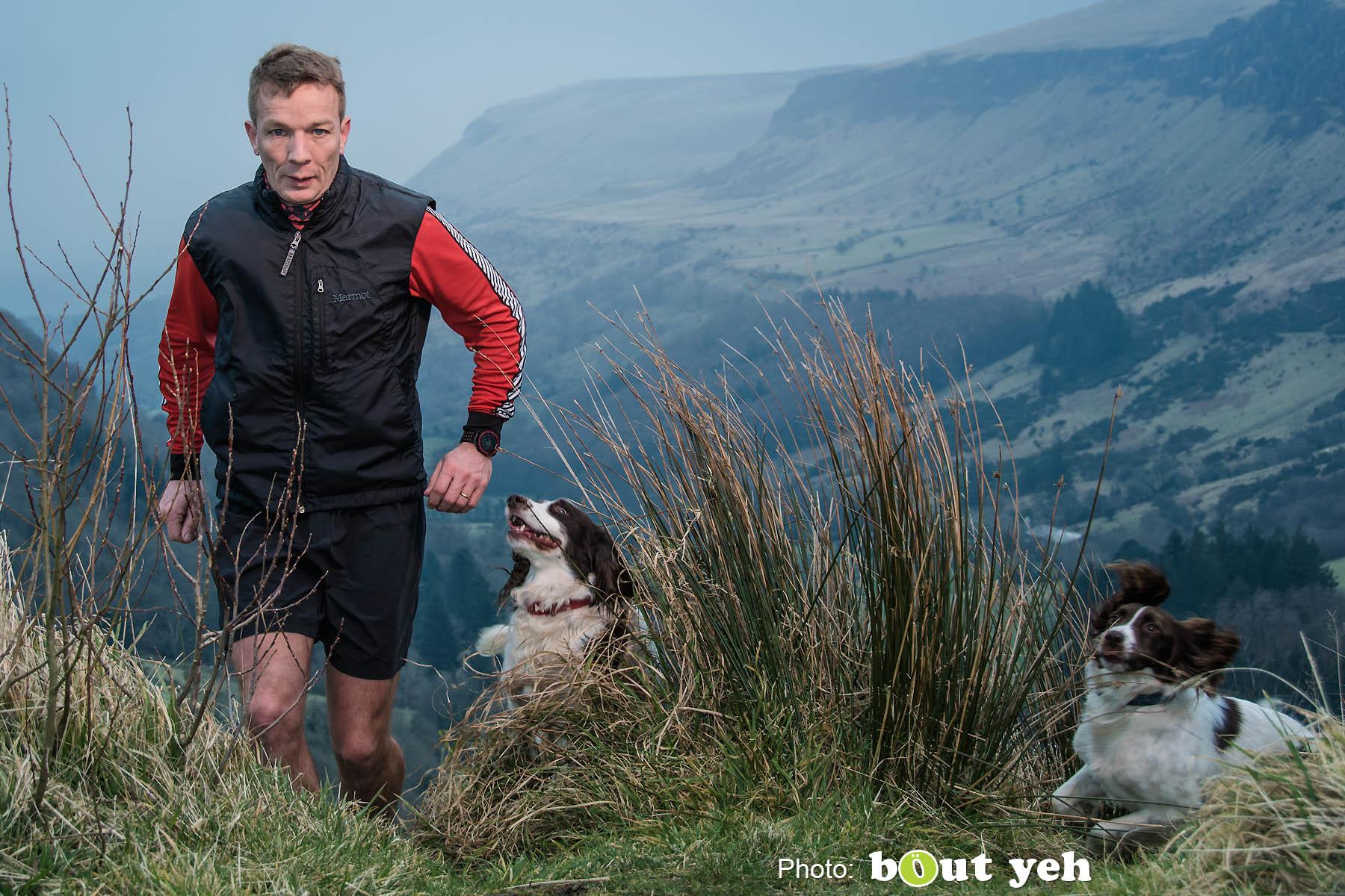 Mark, of Ballymena Runners, at Glenariff Forest, Northern Ireland. Photo 0737.