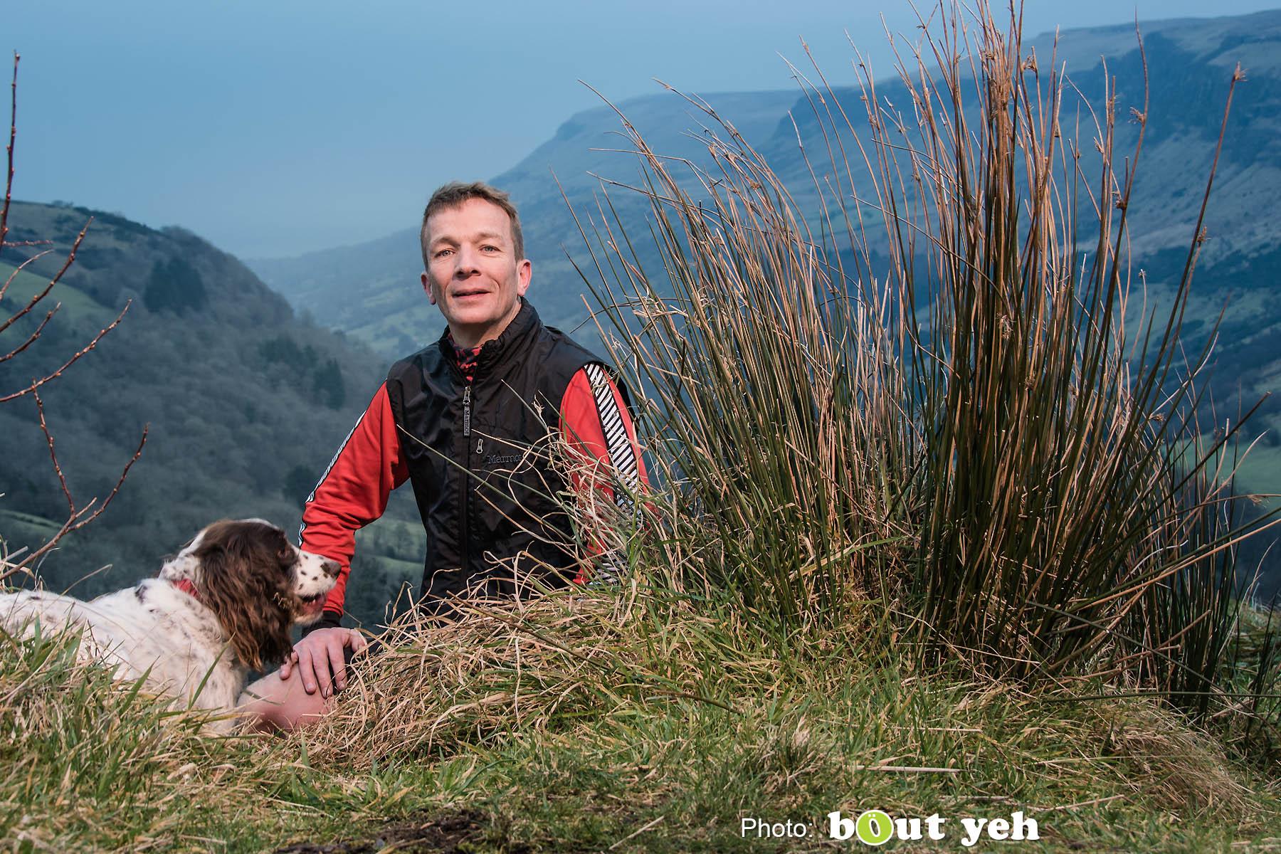 Mark, of Ballymena Runners, at Glenariff Forest, Northern Ireland. Photo 0748.
