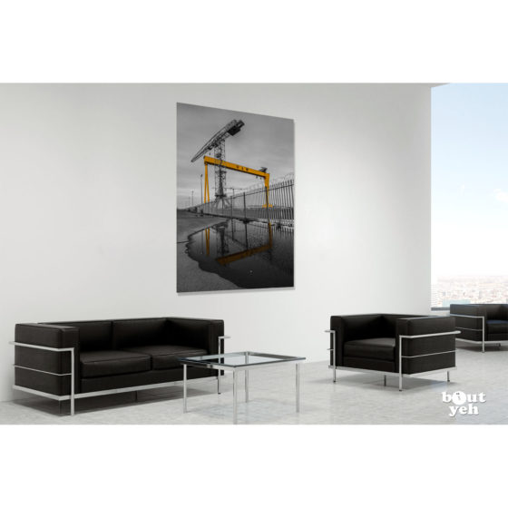 Harland and Wolff Shipyard by JMcL (H&W B&W) - photo in room setting.