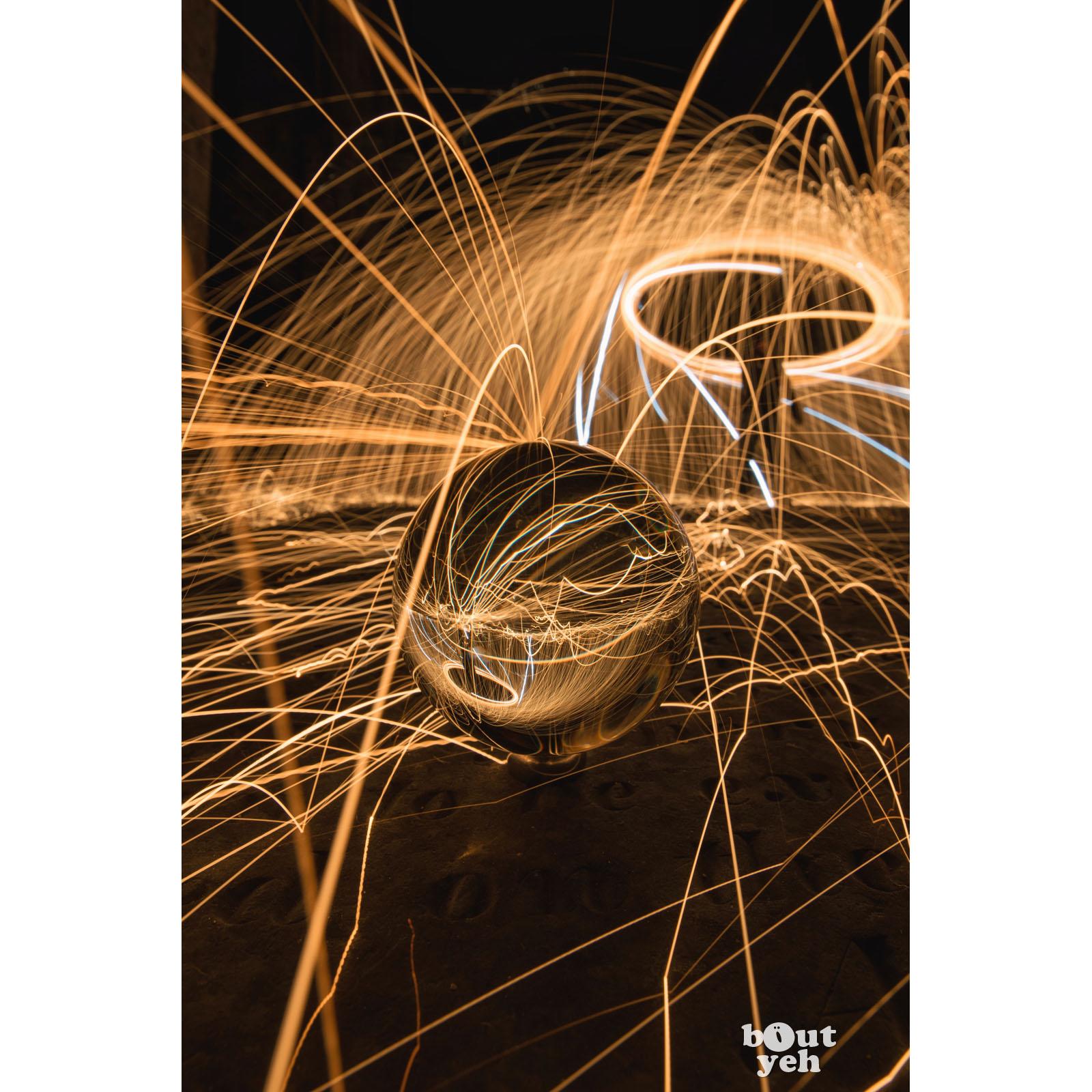 Greyabbey light trails Irish landscape photograph - photographic print for sale.