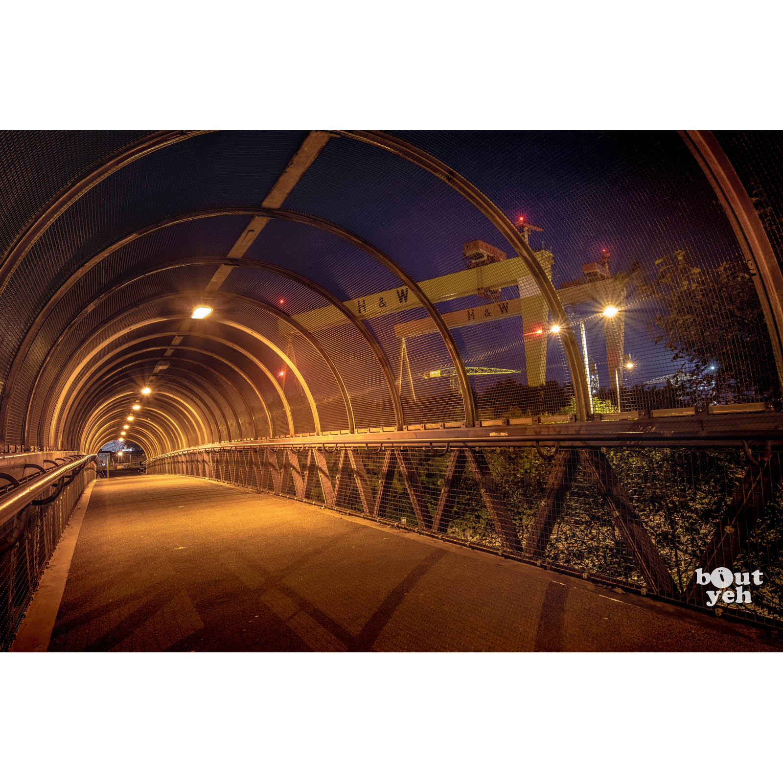 Harland and Wolff Shipyard Belfast from M3 by rskb - photographic print for sale by Bout Yeh photographers in Belfast, Northern Ireland.
