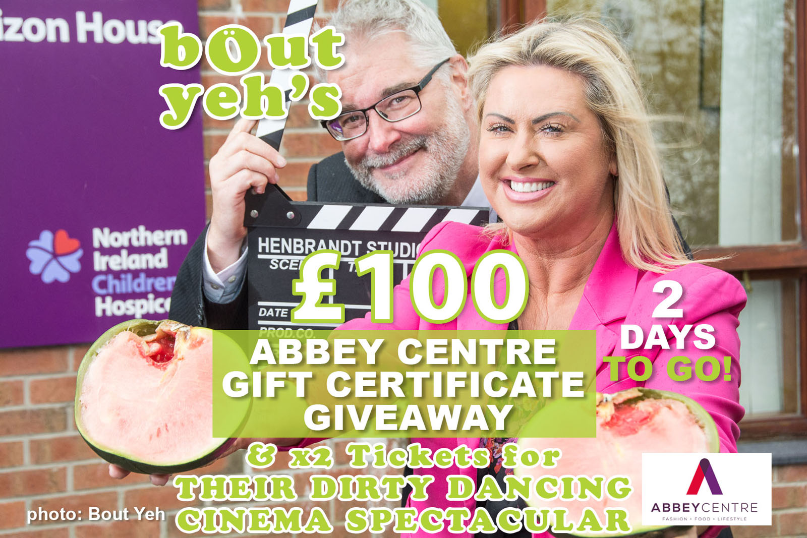 Social Media Marketing Consultants Belfast - Abbey Centre campaign photo 1853. Photo by Bout Yeh used in a Social Media Marketing campaign across Bout Yeh's Social Media platforms for Abbey Centre Northern Ireland.