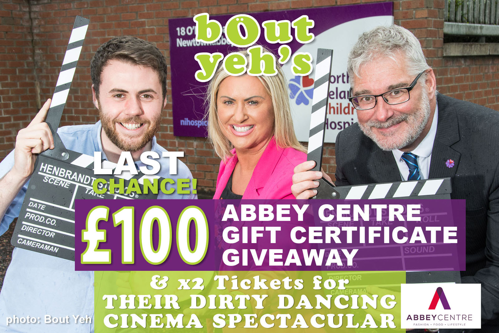 Social Media Marketing Consultants Belfast - Abbey Centre campaign photo 1857. Photo by Bout Yeh used in a Social Media Marketing campaign across Bout Yeh's Social Media platforms for Abbey Centre Northern Ireland.