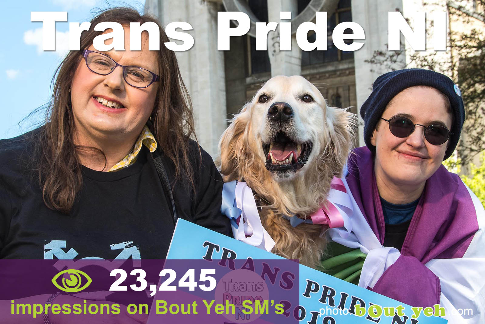 Social Media Marketing Consultants Belfast - Trans Pride NI SMM campaign overview photo. Photo by Bout Yeh used in a Social Media Marketing campaign across Bout Yeh's Social Media platforms and for a press release for the Trans Pride NI Festival Northern Ireland.