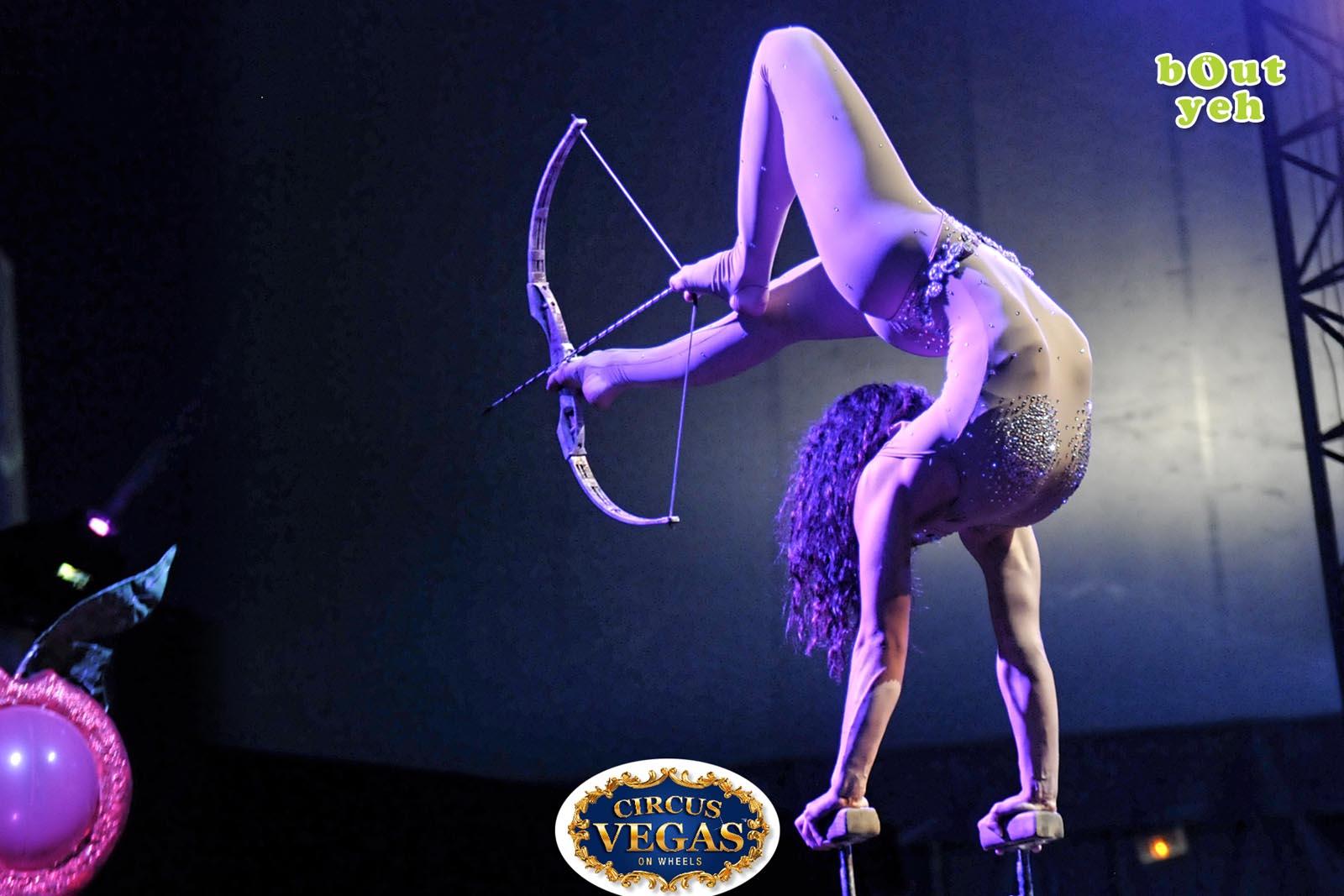 Social Media Marketing Consultants Belfast - Circus Vegas campaign photo of circus acrobat. Photo by Bout Yeh used in a Social Media Marketing campaign across Bout Yeh's Social Media platforms for Circus Vegas On Wheels Ireland
