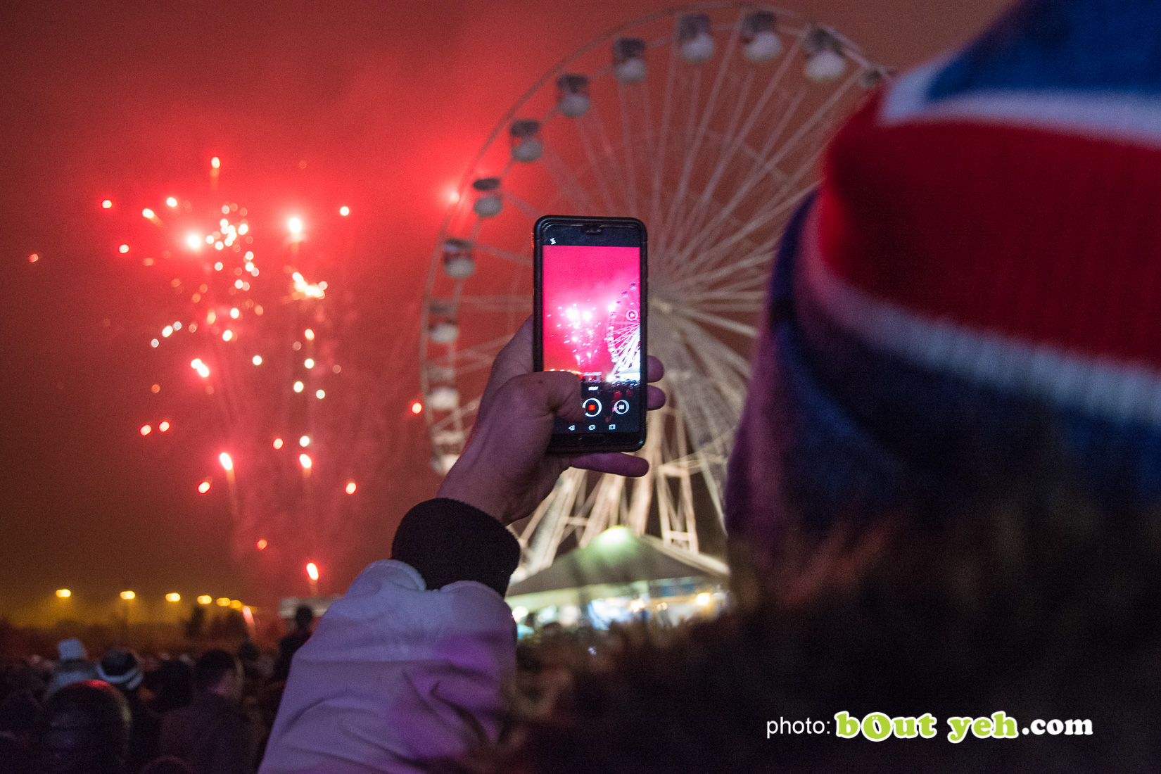 People enjoying halloween fireworks at V36 Park Newtownabbey, photo 9461 by Bout Yeh photographers Belfast