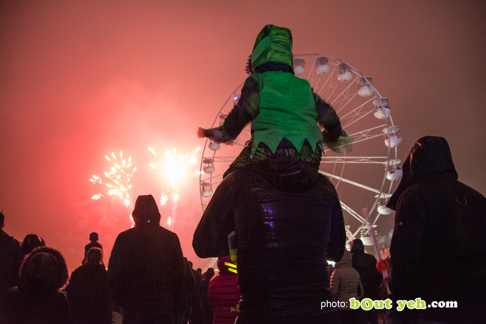 People enjoying halloween fireworks at V36 Park Newtownabbey, photo 9498 by Bout Yeh photographers Belfast