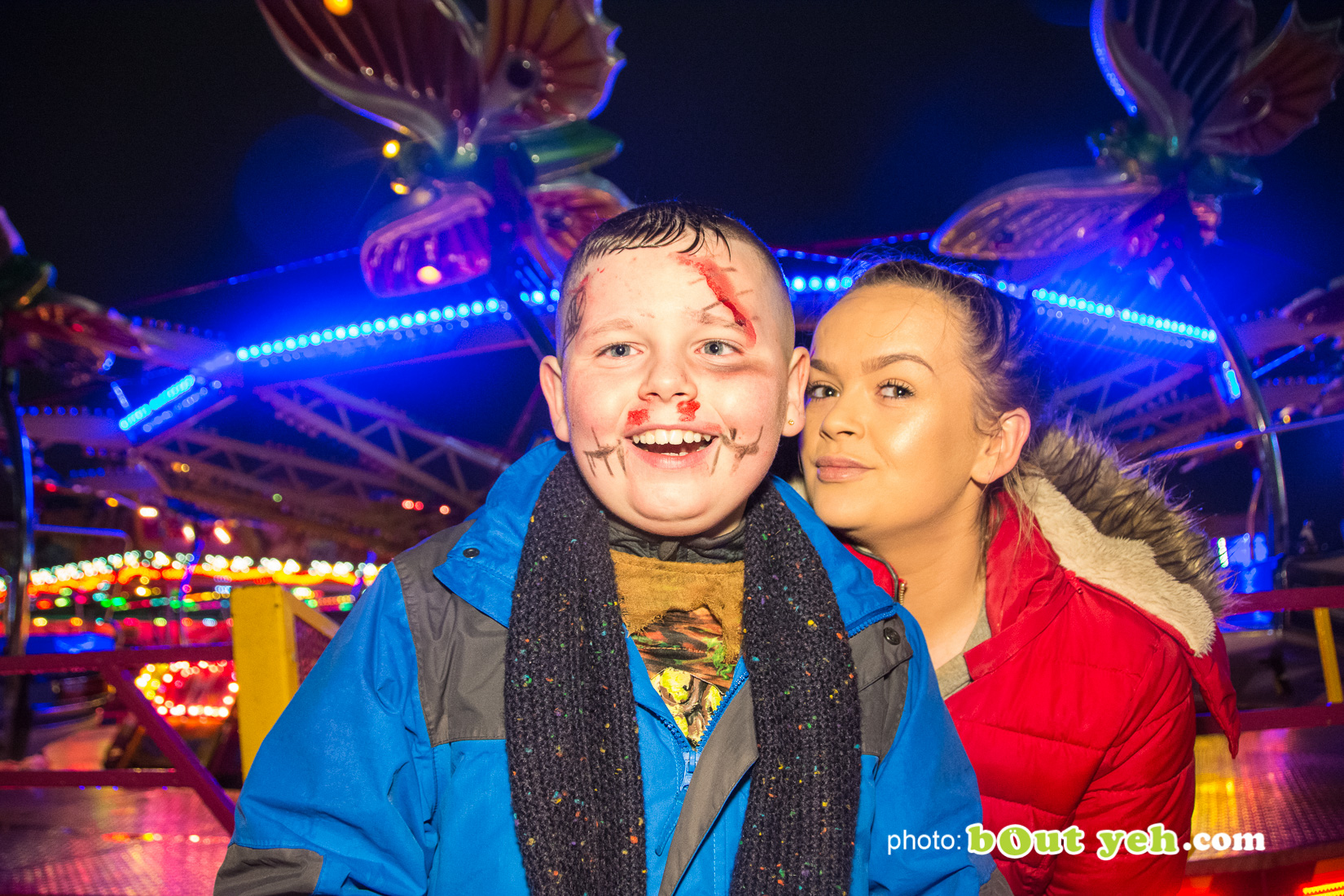 People enjoying halloween fireworks at V36 Park Newtownabbey, photo 9567 by Bout Yeh photographers Belfast