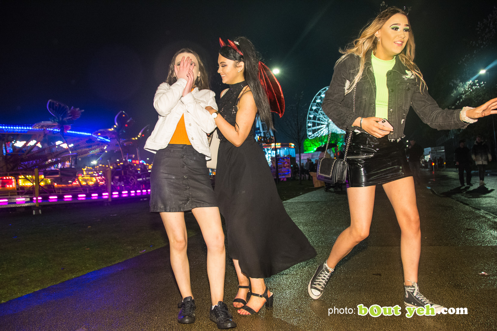 People enjoying halloween fireworks at V36 Park Newtownabbey, photo 9570 by Bout Yeh photographers Belfast