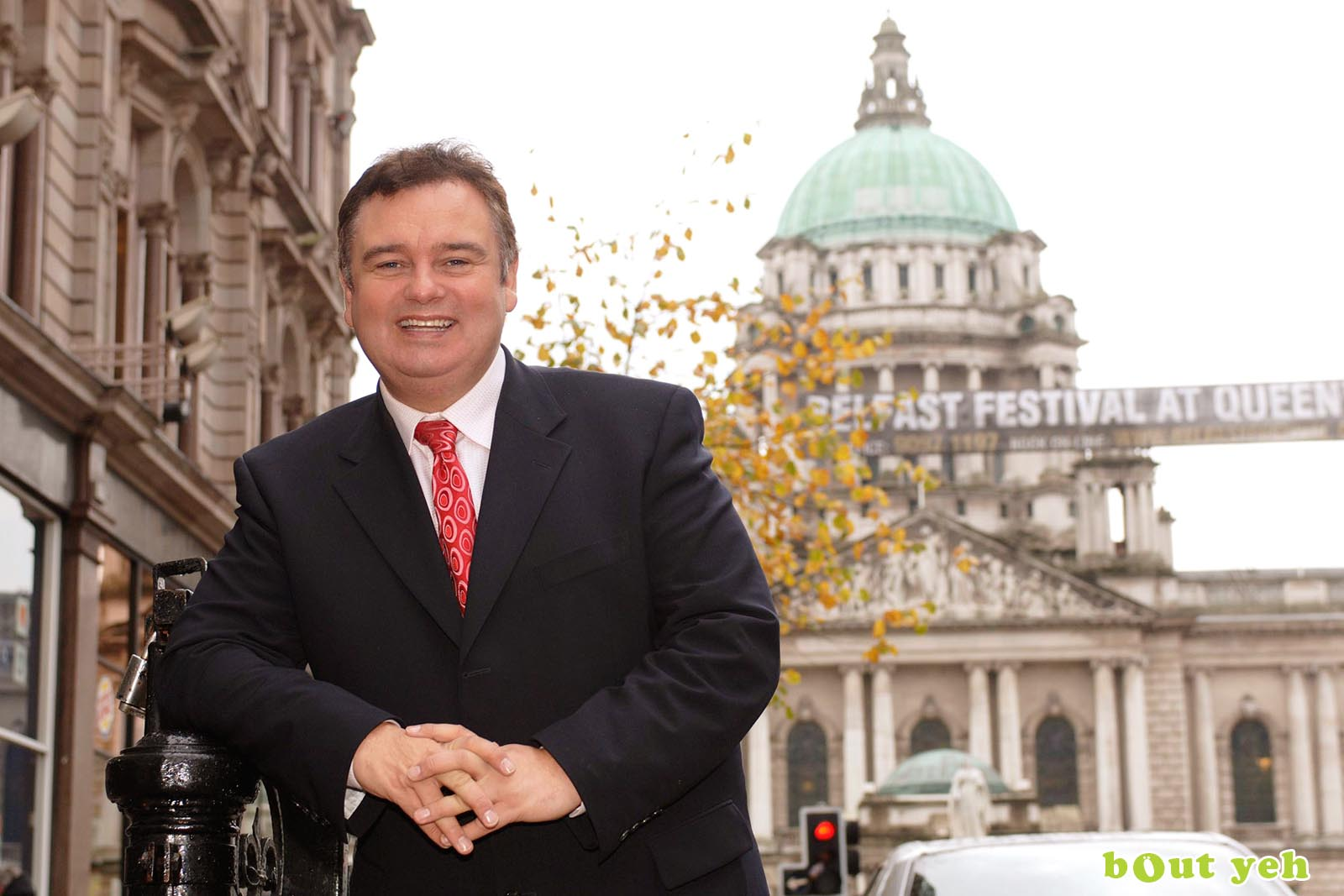 PR photographers Belfast portfolio photo 6140 of celebrity Eamonn Holmes in Belfast - Bout Yeh photography and video production services Belfast, Northern Ireland