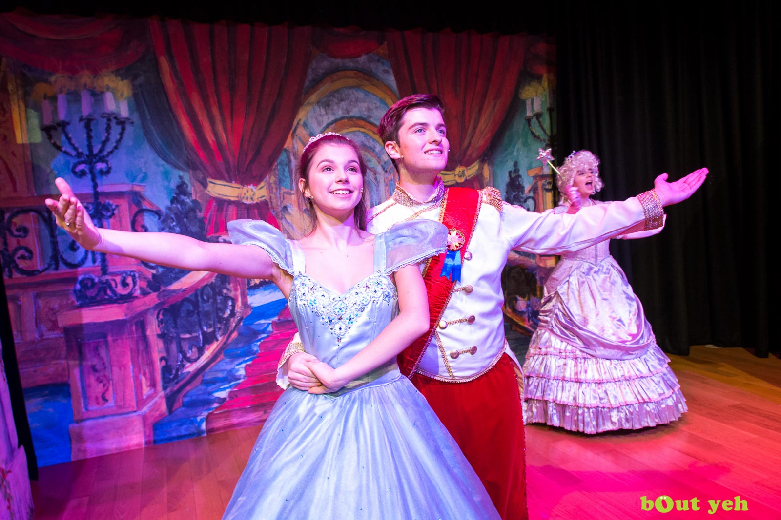 PR photographers Belfast portfolio photo 0075 of Cinderella pantomime at the Old Courthouse Theatre Antrim - Bout Yeh photography and video production services Belfast, Northern Ireland