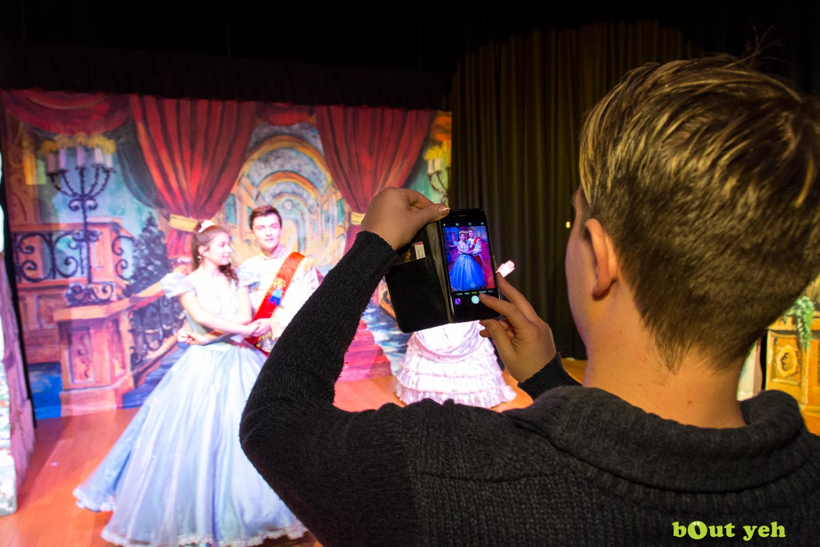 PR photographers Belfast portfolio photo 0080 of Cinderella pantomime at the Old Courthouse Theatre Antrim - Bout Yeh photography and video production services Belfast, Northern Ireland