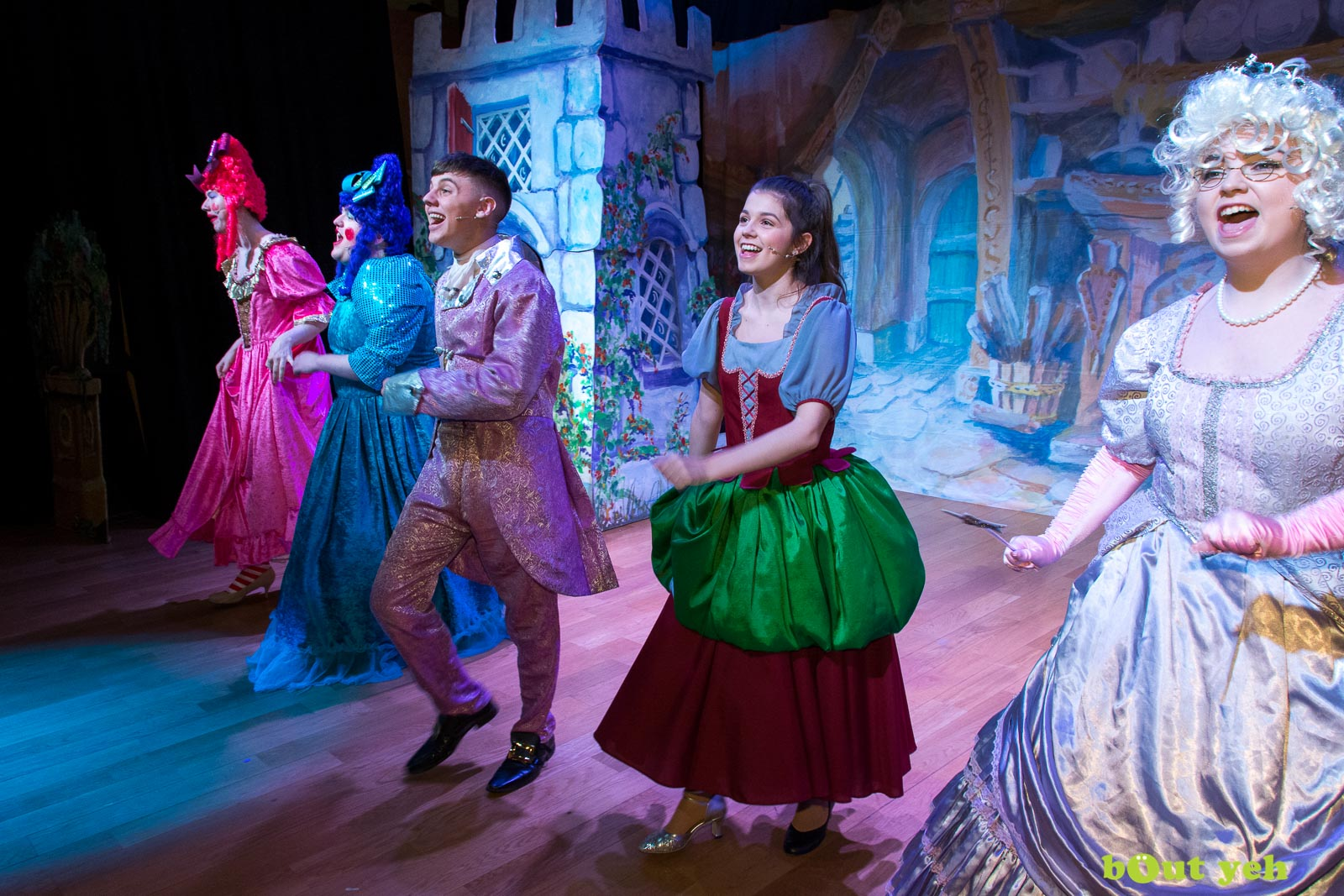 PR photographers Belfast portfolio photo 0200 of Cinderella pantomime at the Old Courthouse Theatre Antrim - Bout Yeh photography and video production services Belfast, Northern Ireland